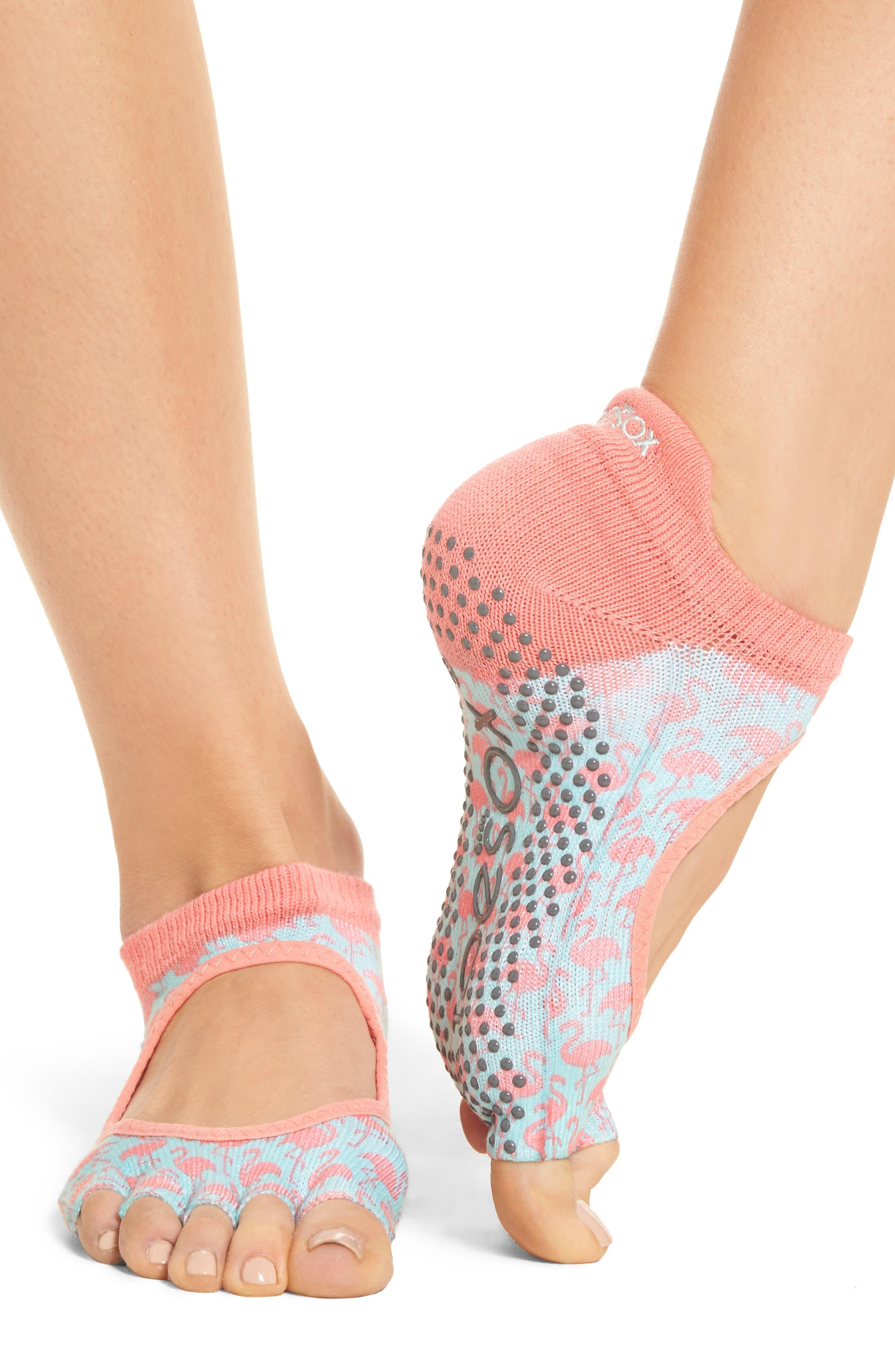 Alternate Image 3  - ToeSox Bellarina Half Toe Gripper Socks