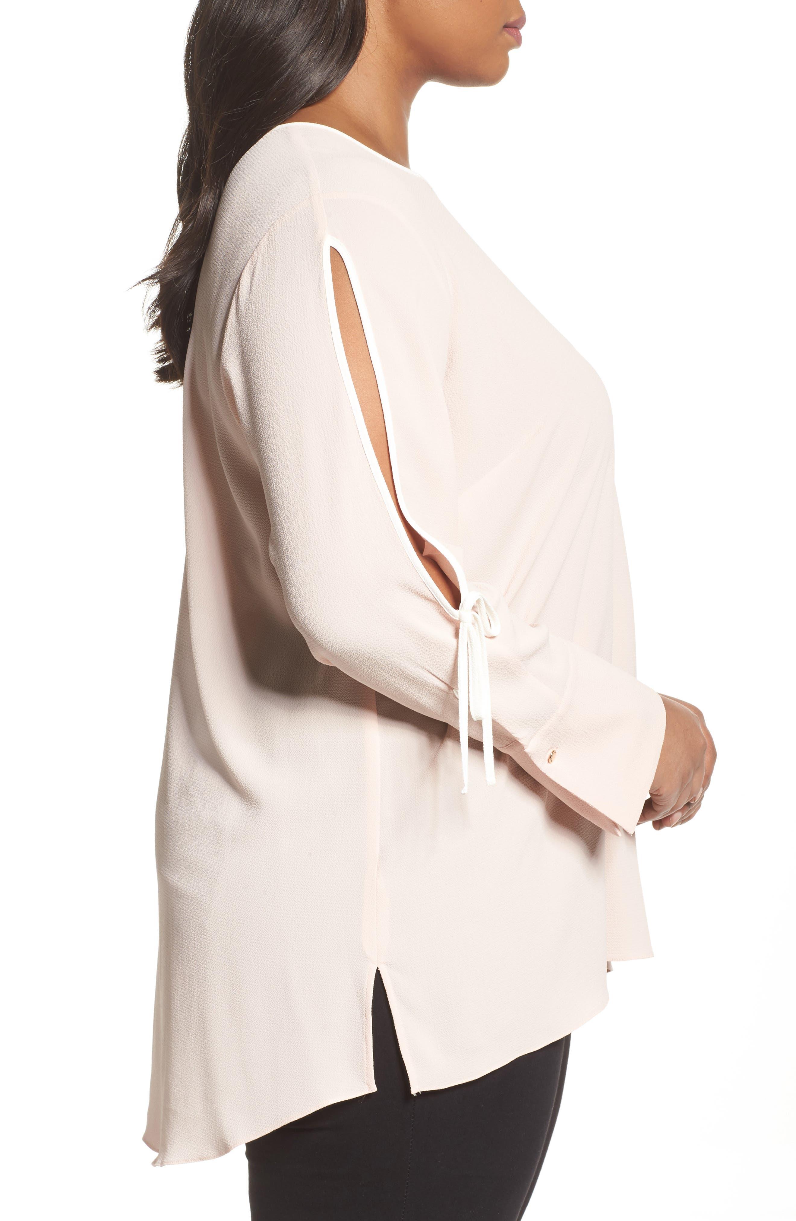 Alternate Image 3  - Vince Camuto Bell Cuff Split Sleeve Shirt (Plus Size)