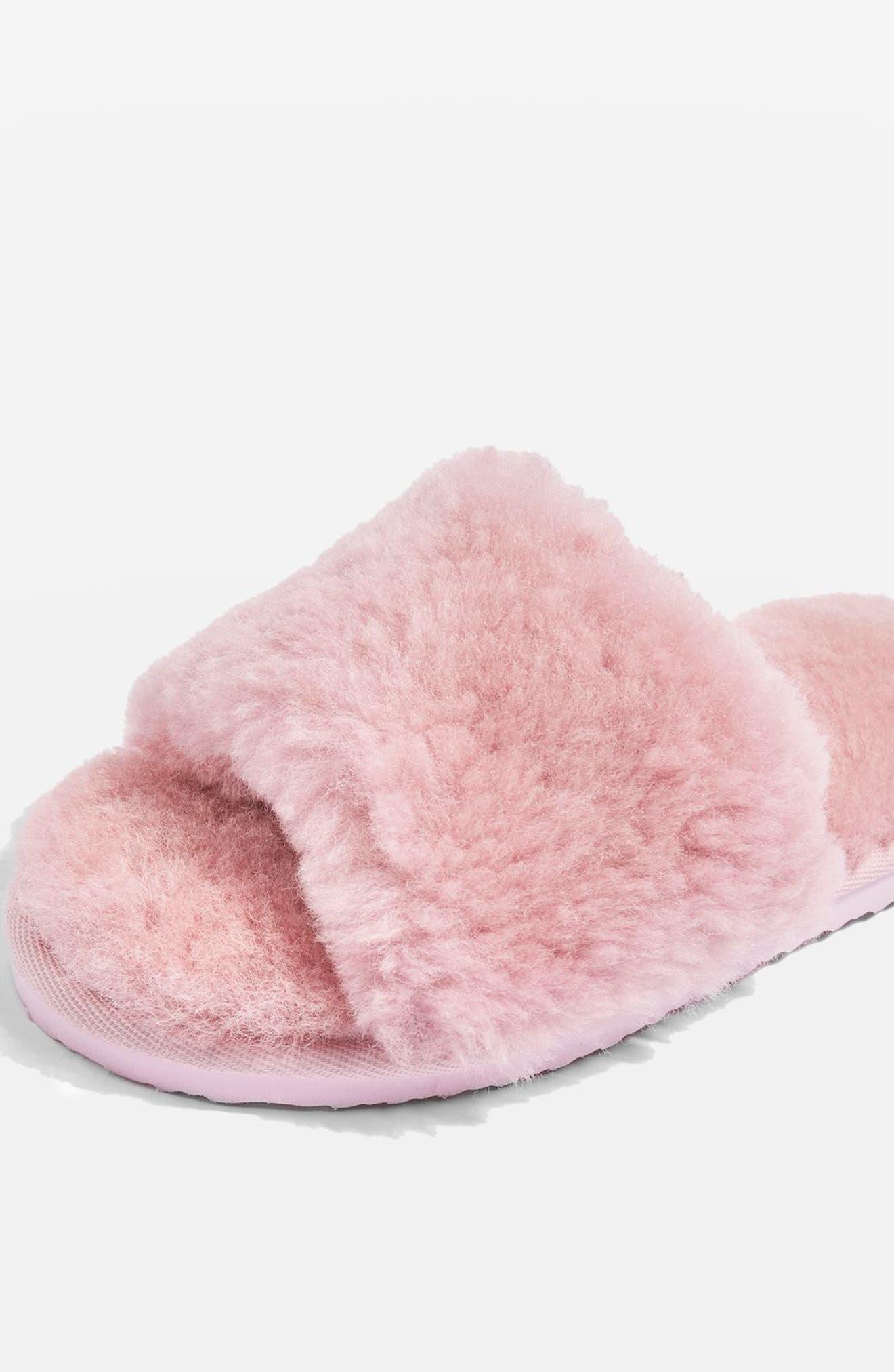 Topshop Cleo Faux Fur Slide Slippers