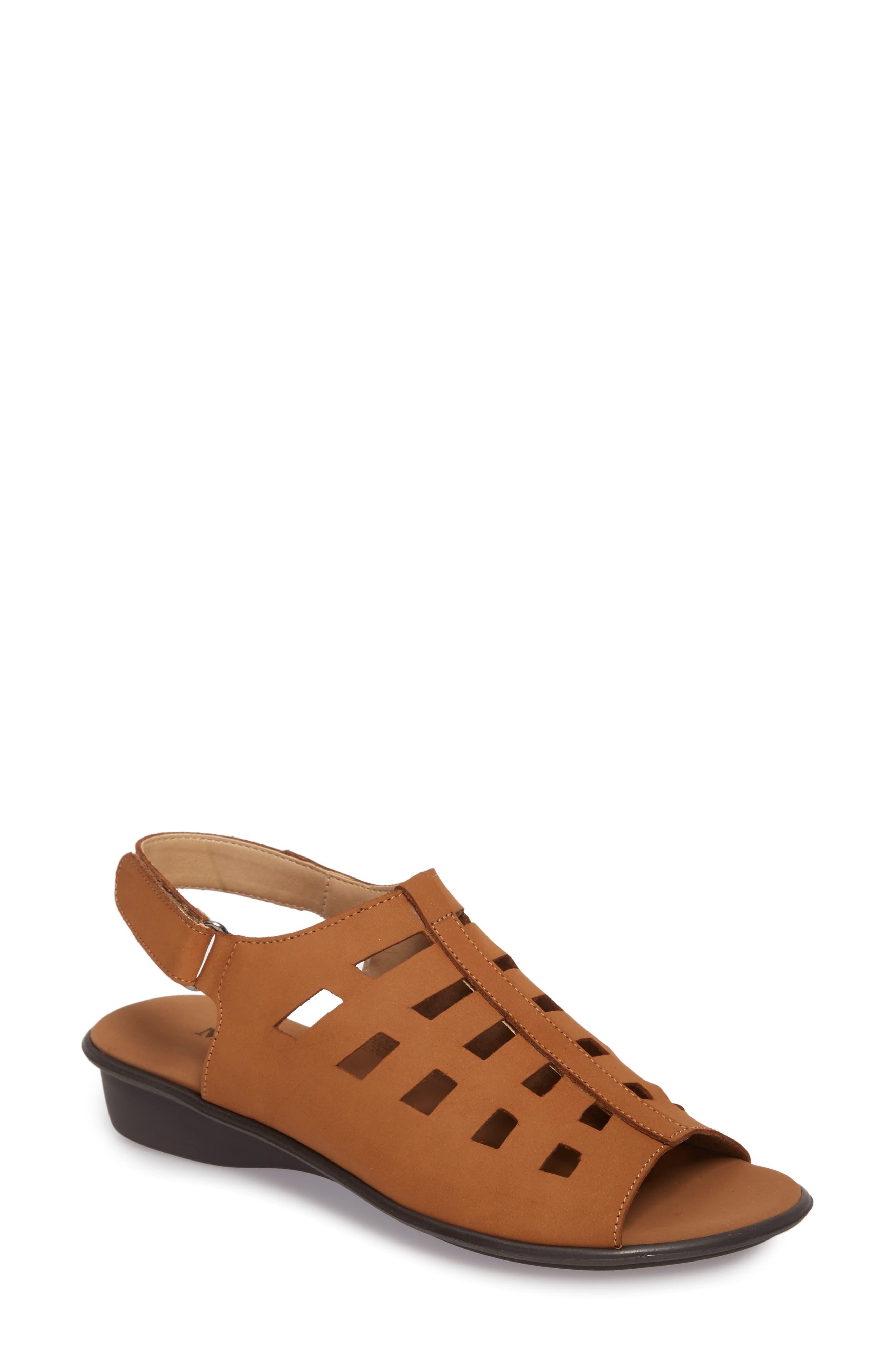 Elita Cutout Slingback Sandal,                         Main,                         color, Viso Nubuck