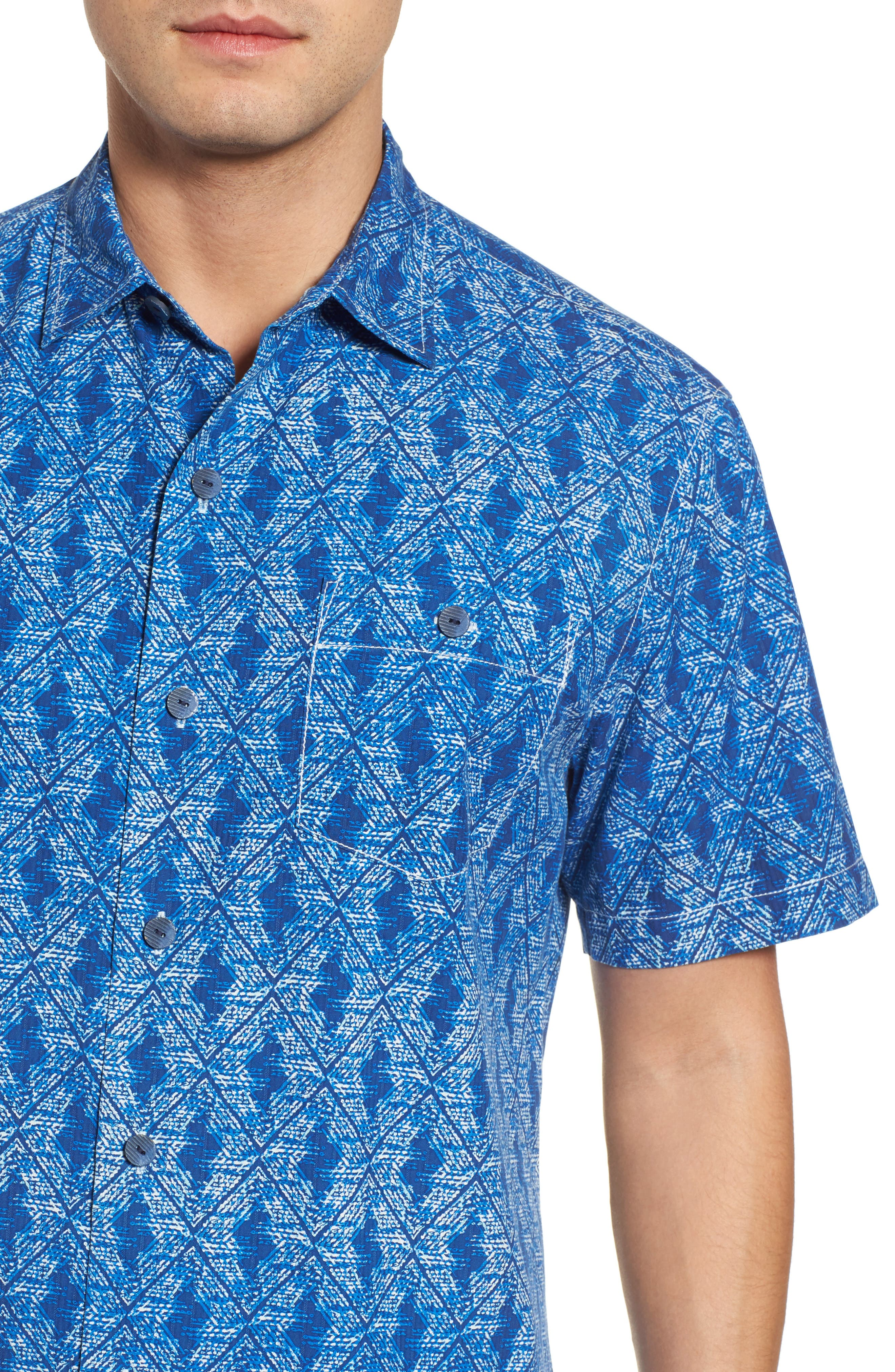 Alternate Image 4  - Tommy Bahama Del Ray Diamond Sport Shirt