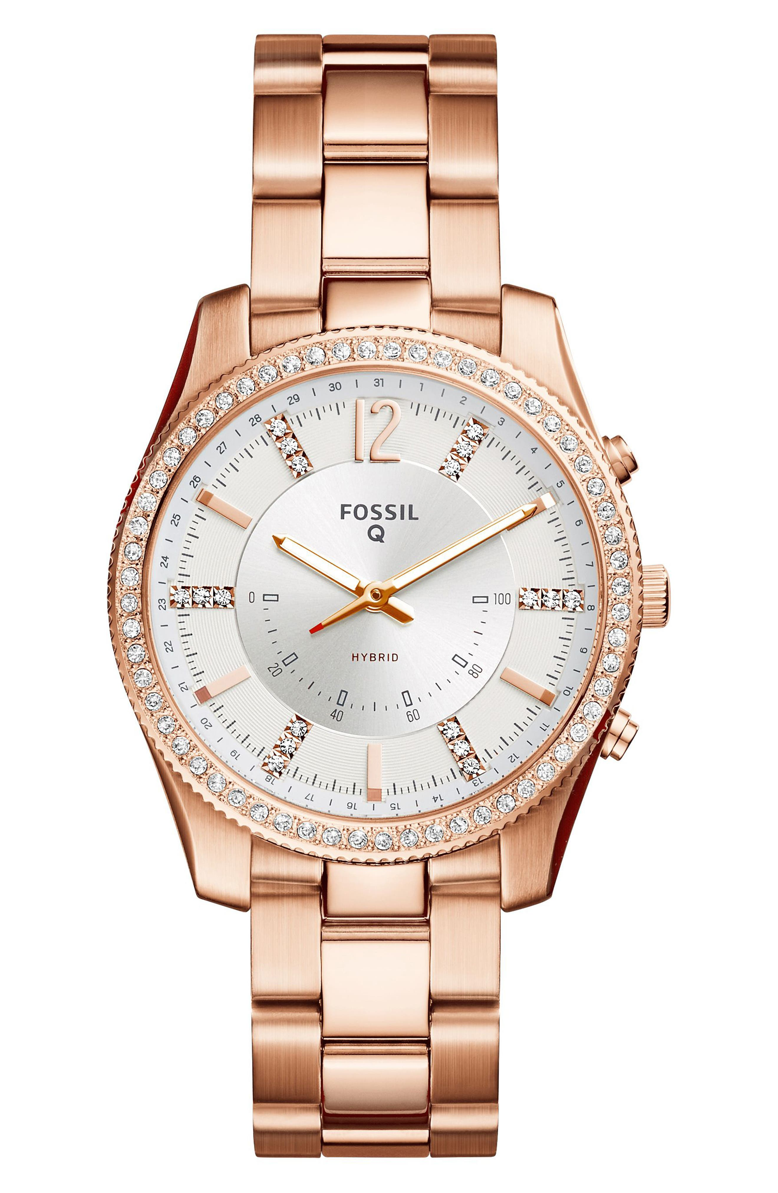 Scarlette Smart Bracelet Watch, 38mm,                         Main,                         color, Rose Gold