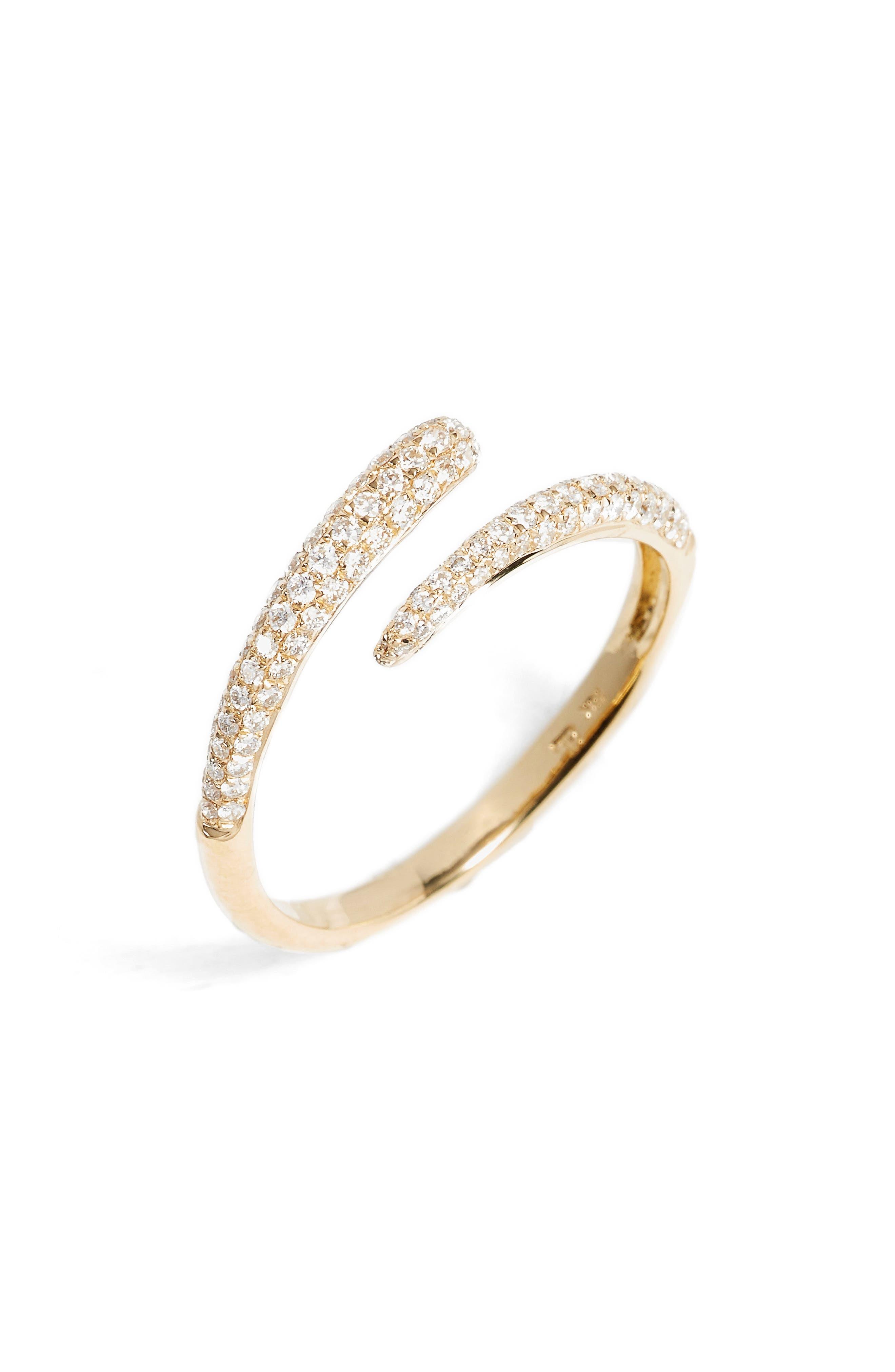 Micro Pavé Diamond Openwork Ring,                         Main,                         color, Yellow Gold