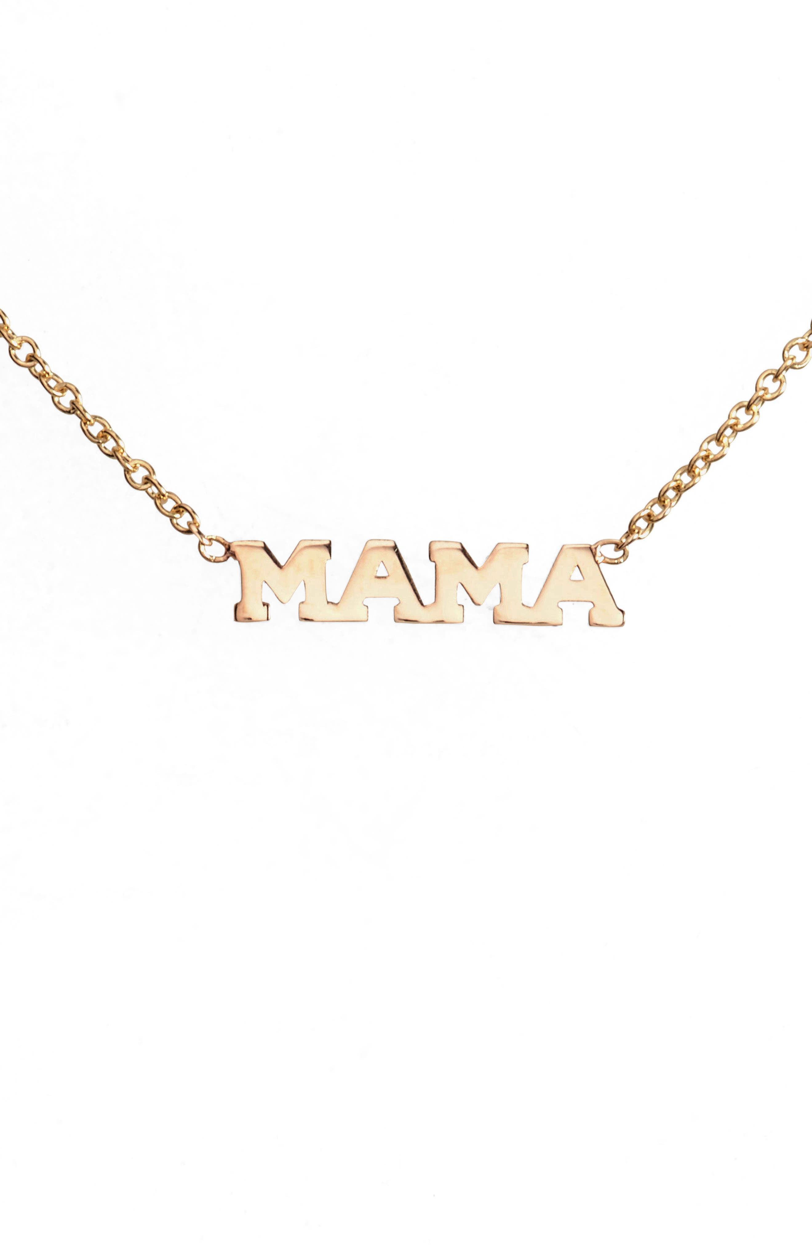 Zoë Chicco Itty Bitty Mama Pendant Necklace
