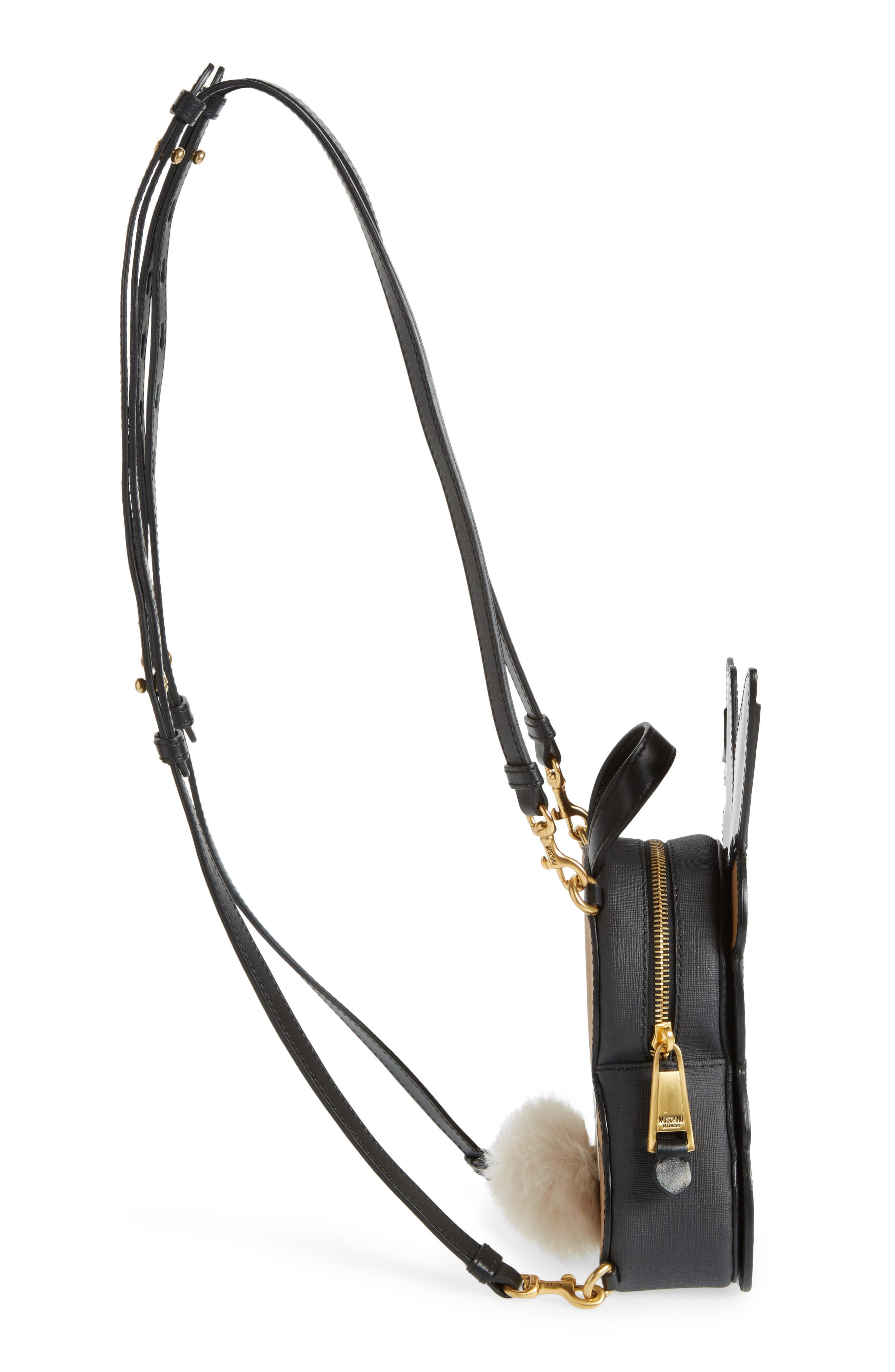 Alternate Image 5  - Moschino x Playboy Small Bunny Bear Leather Backpack