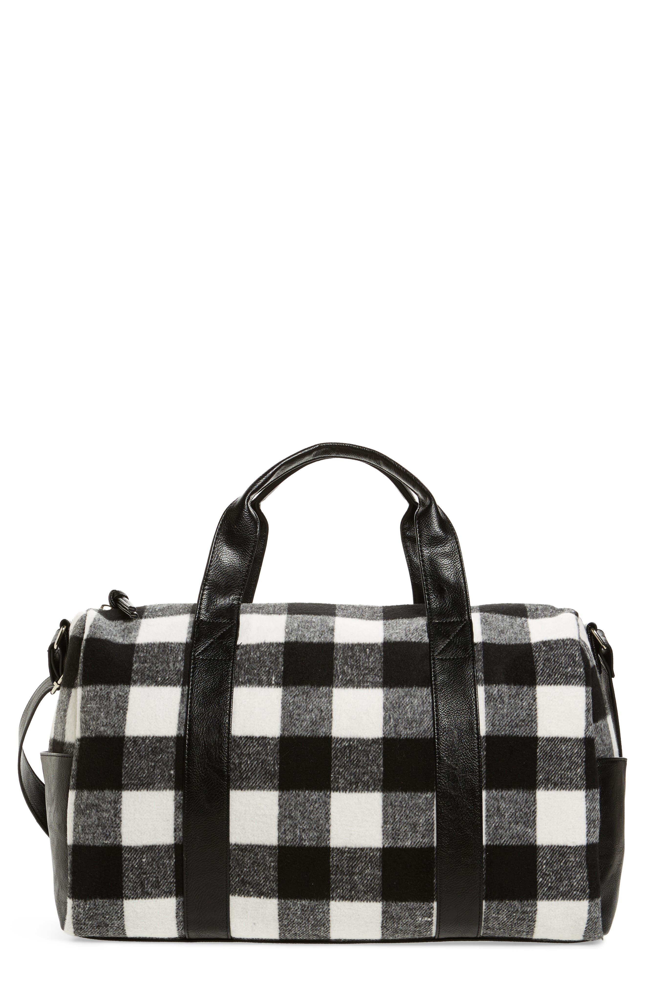 BP. Flannel Buffalo Check Duffel Bag