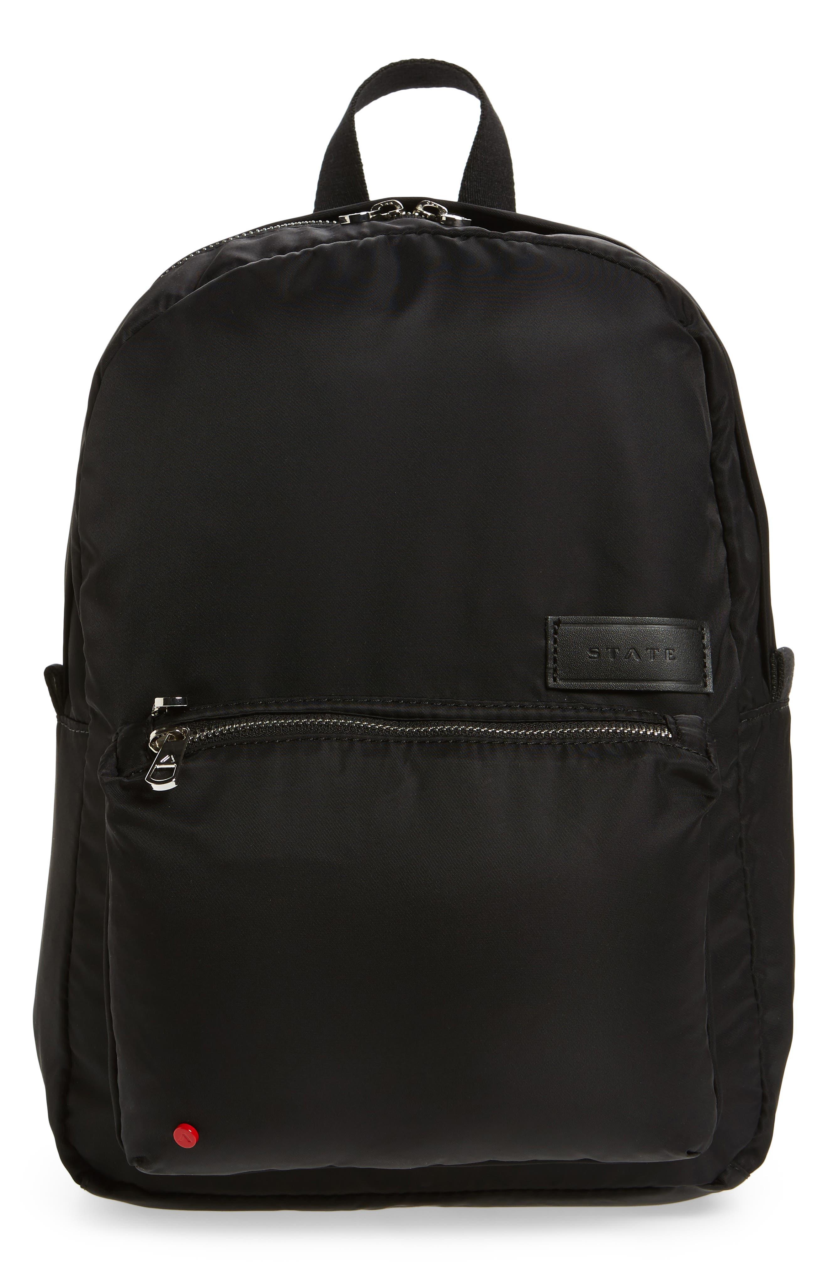 The Heights Mini Lorimer Nylon Backpack,                         Main,                         color, Black
