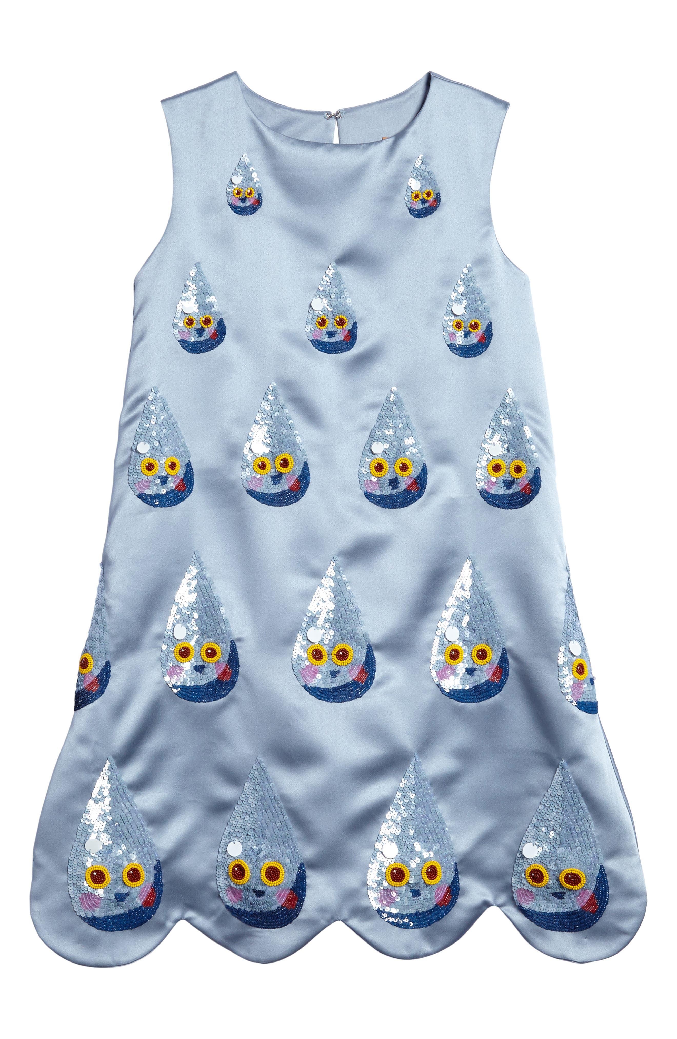 Kid Made Modern Sequin Raindrop Shift Dress (Little Girls & Big Girls)