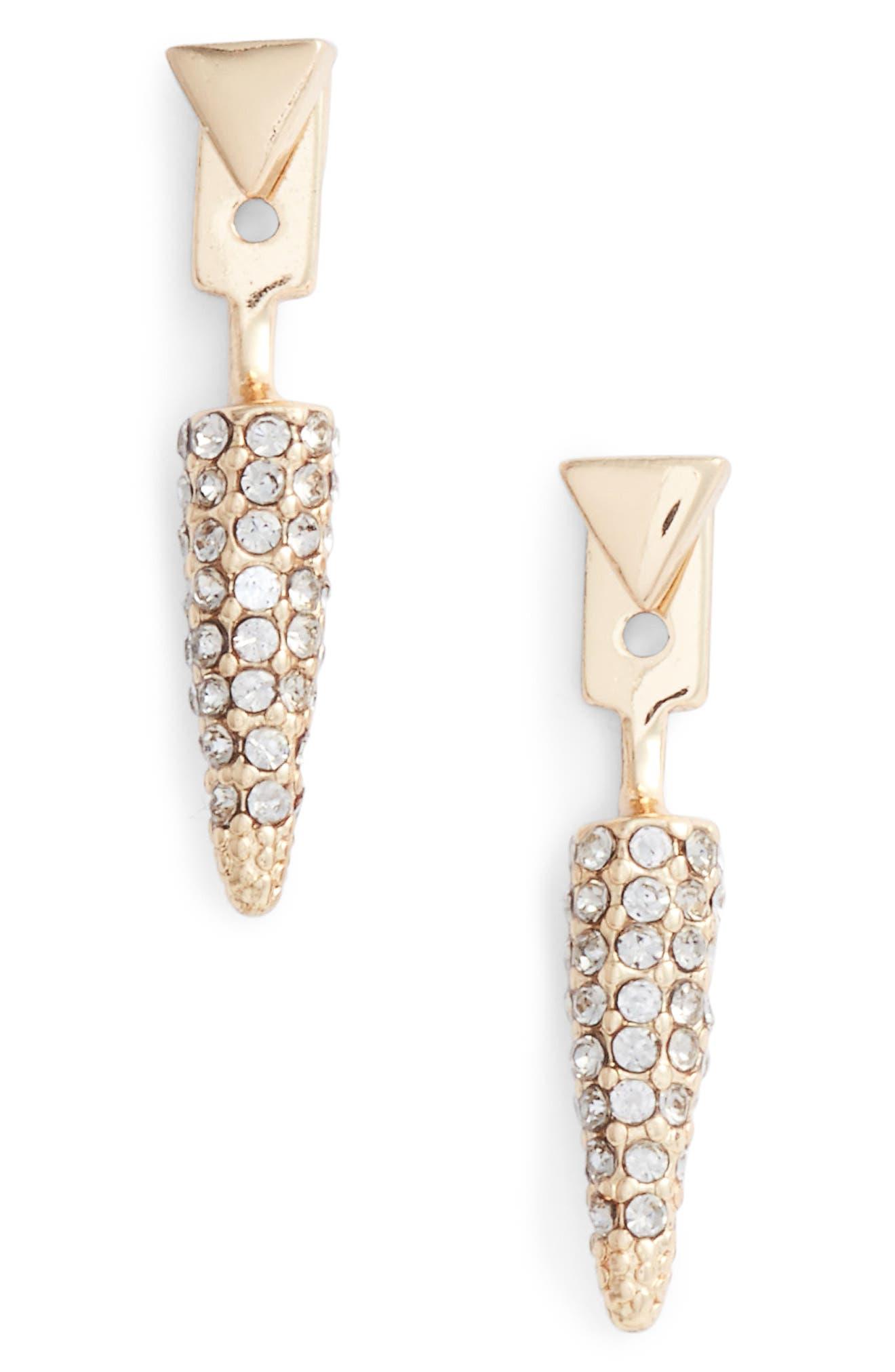 Rebecca Minkoff Pavé Spike Earrings