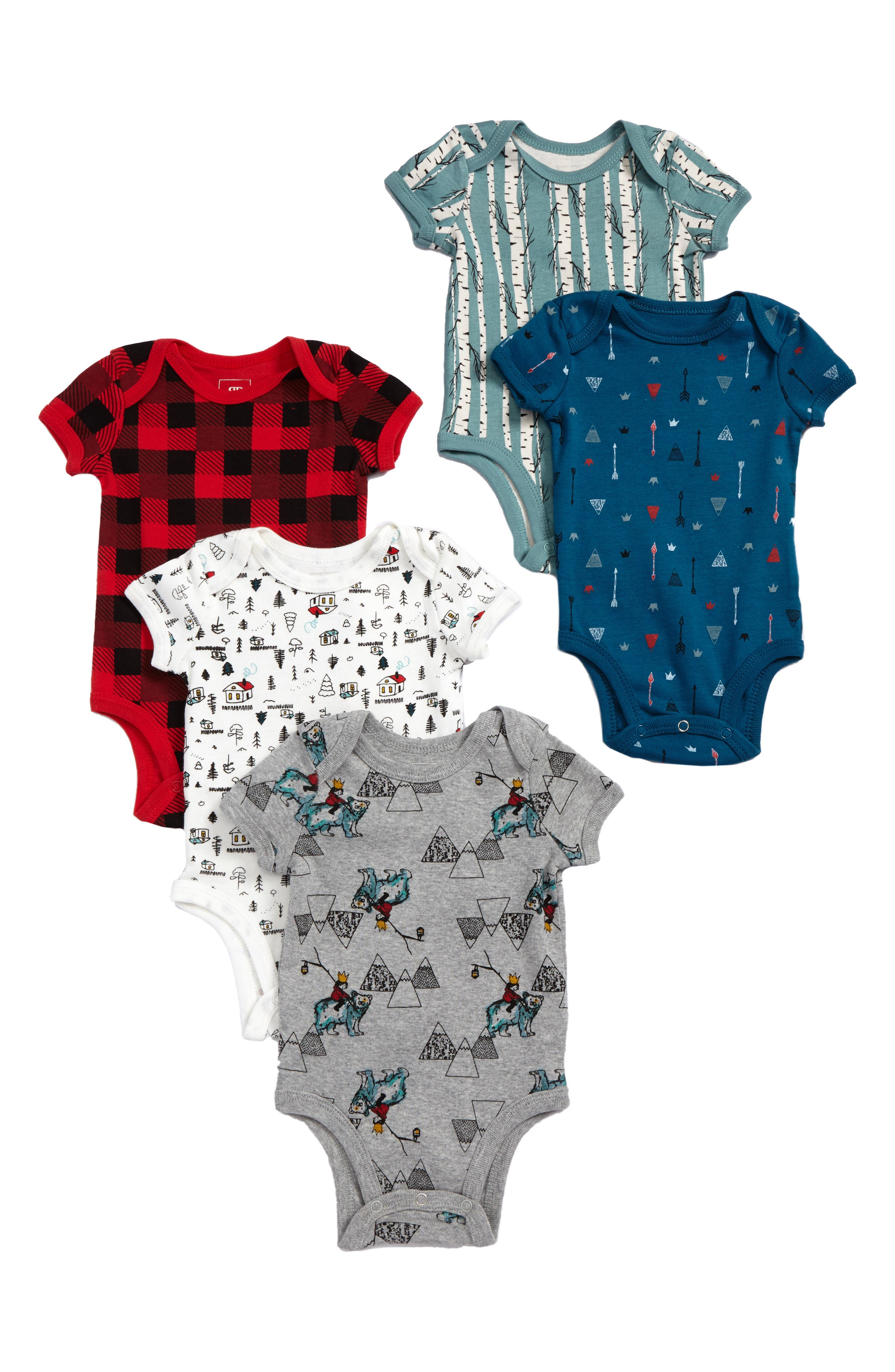 Rosie Pope 5-Pack Bodysuits (Baby Boys)