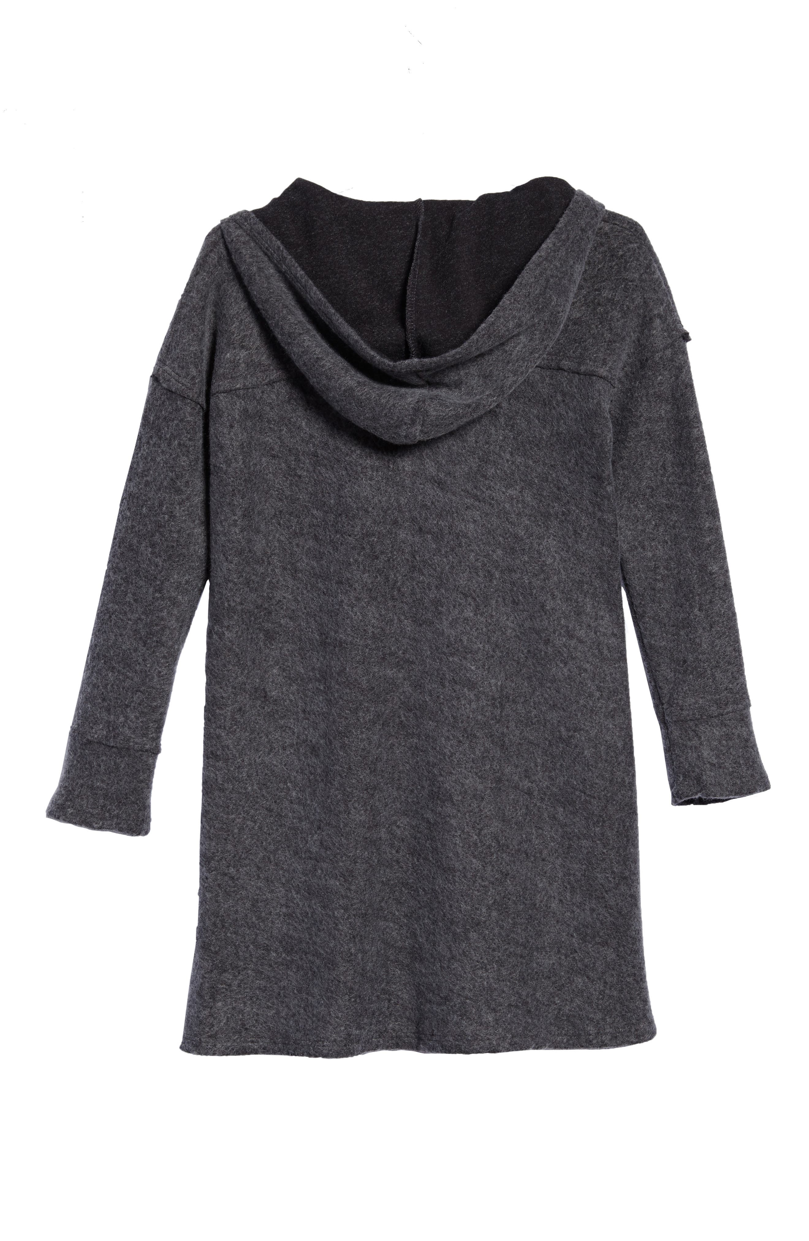 Hooded Swing Dress,                             Alternate thumbnail 2, color,                             Charcoal