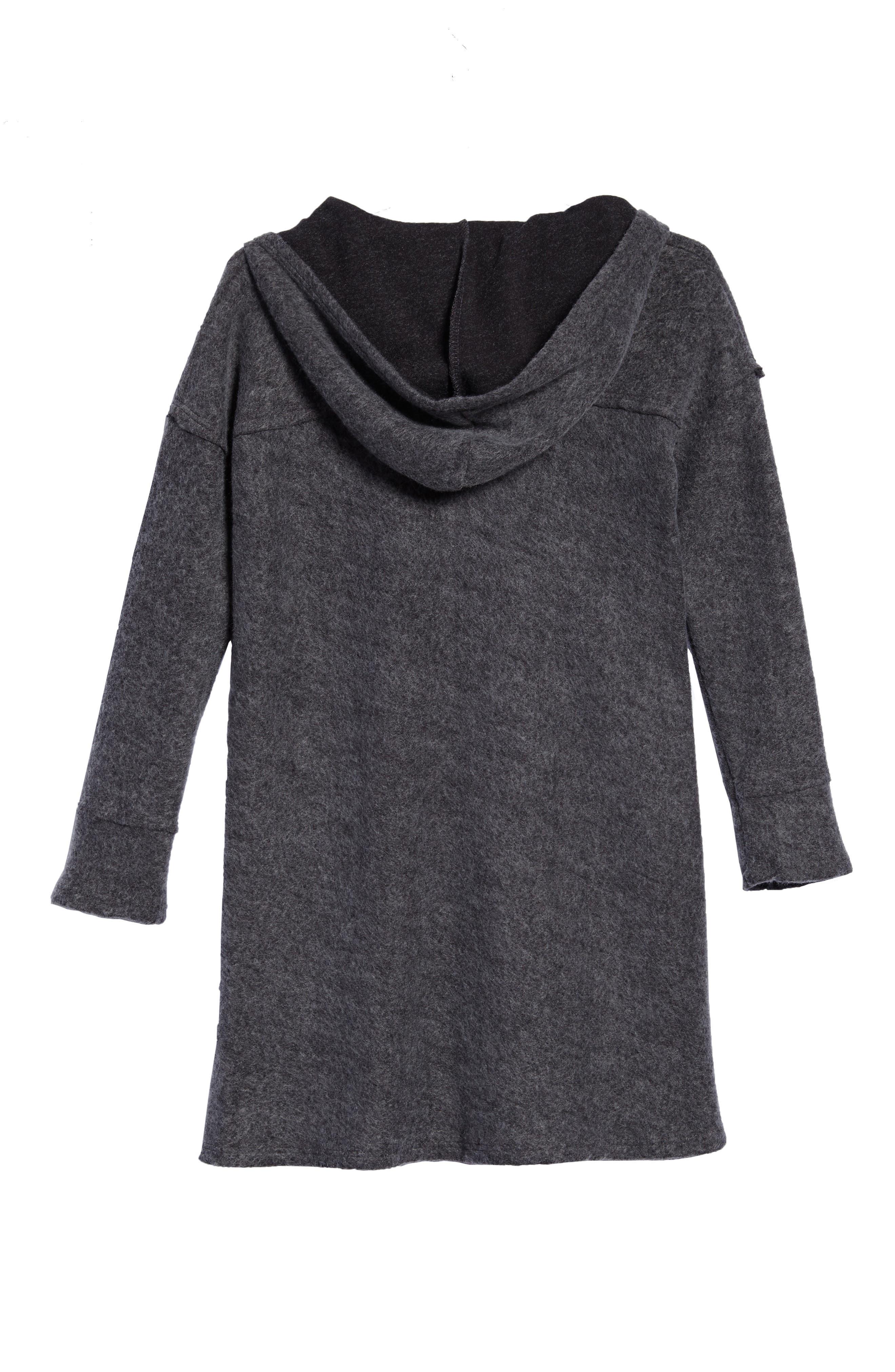 Alternate Image 2  - For All Seasons Hooded Swing Dress (Big Girls)