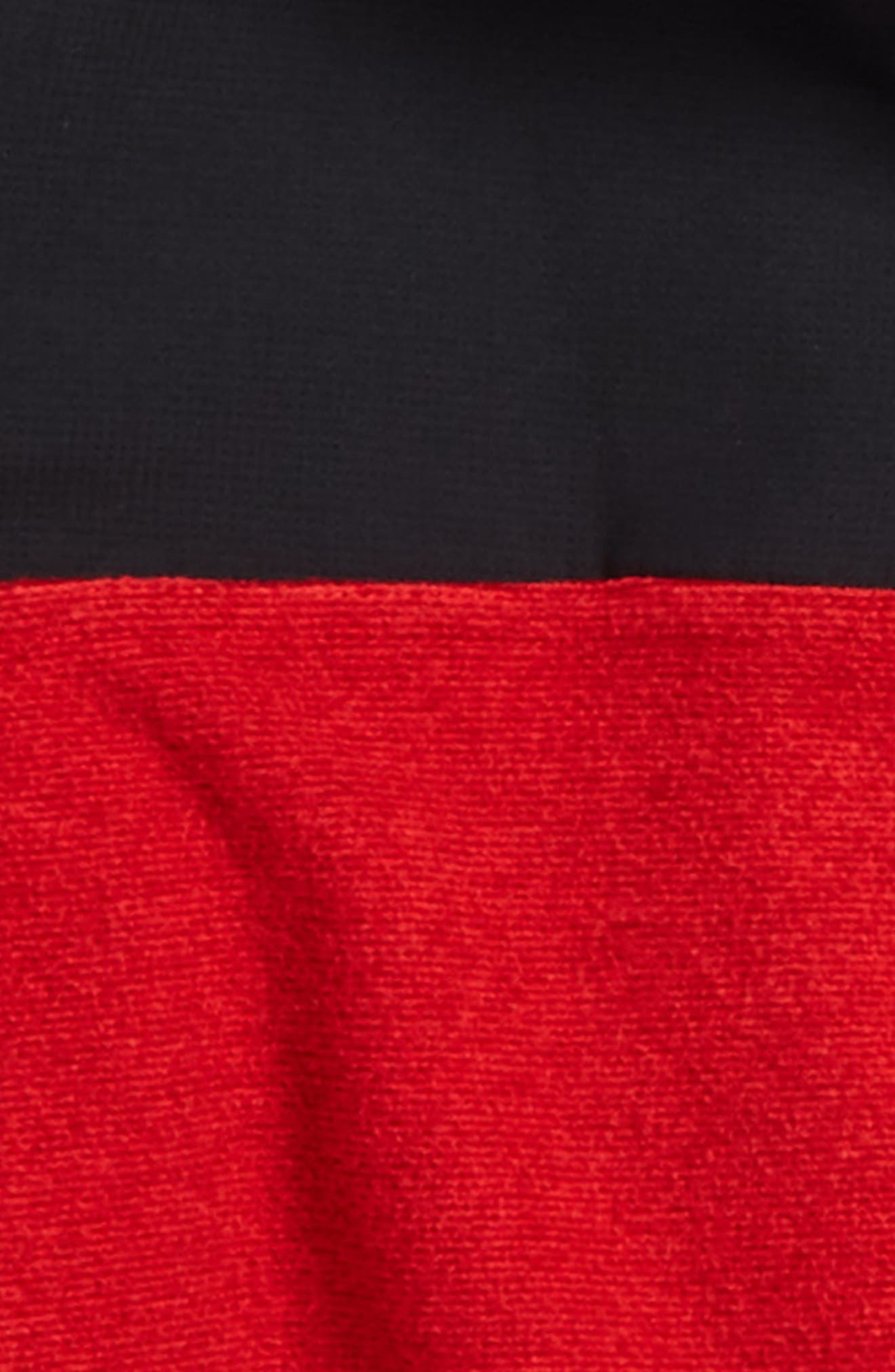 Phenom ColdGear<sup>®</sup> Quarter Zip Pullover,                             Alternate thumbnail 2, color,                             Red/ Black
