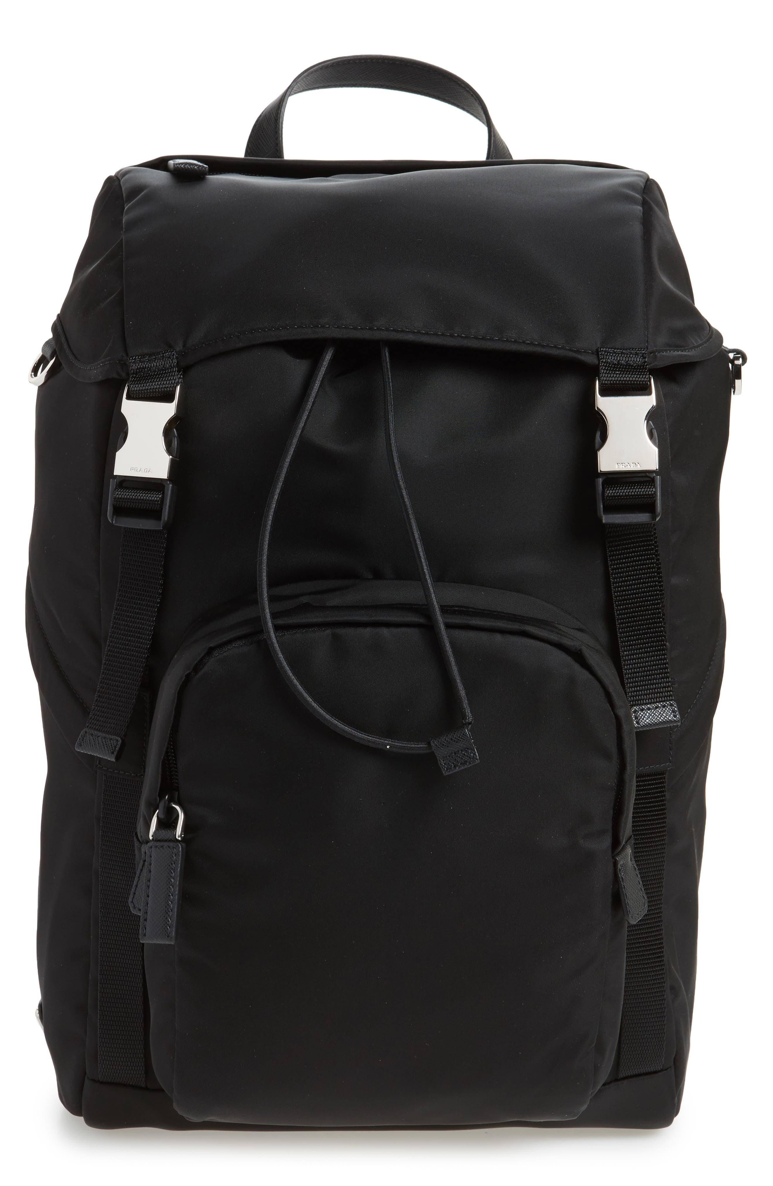 Main Image - Prada Montagna Flap Backpack