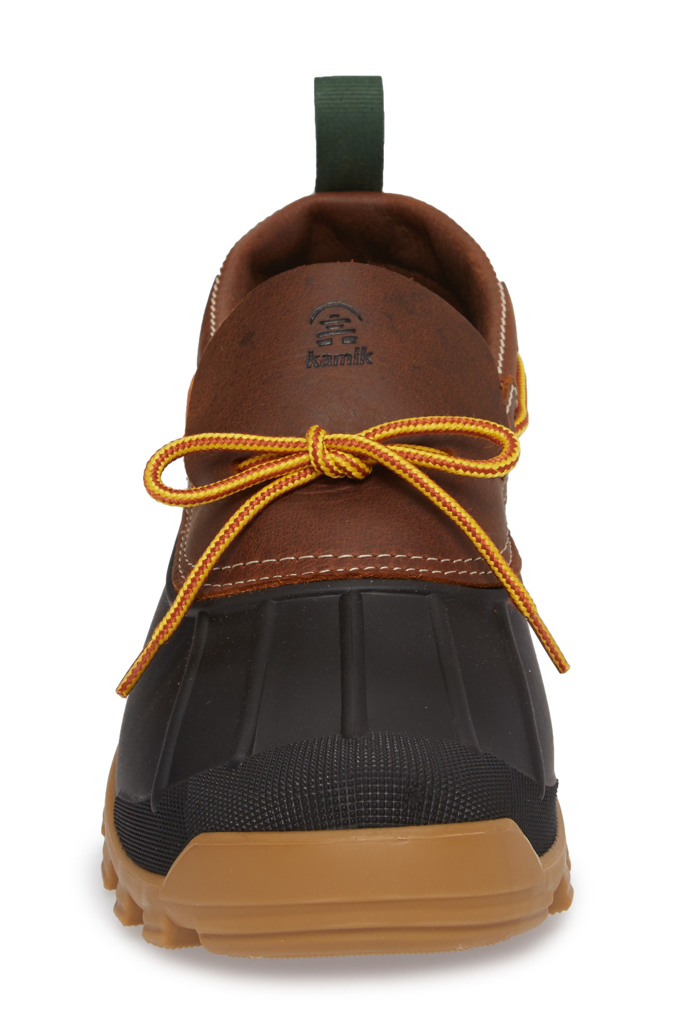 Yukon Short Boot,                             Alternate thumbnail 4, color,                             Dark Brown Leather