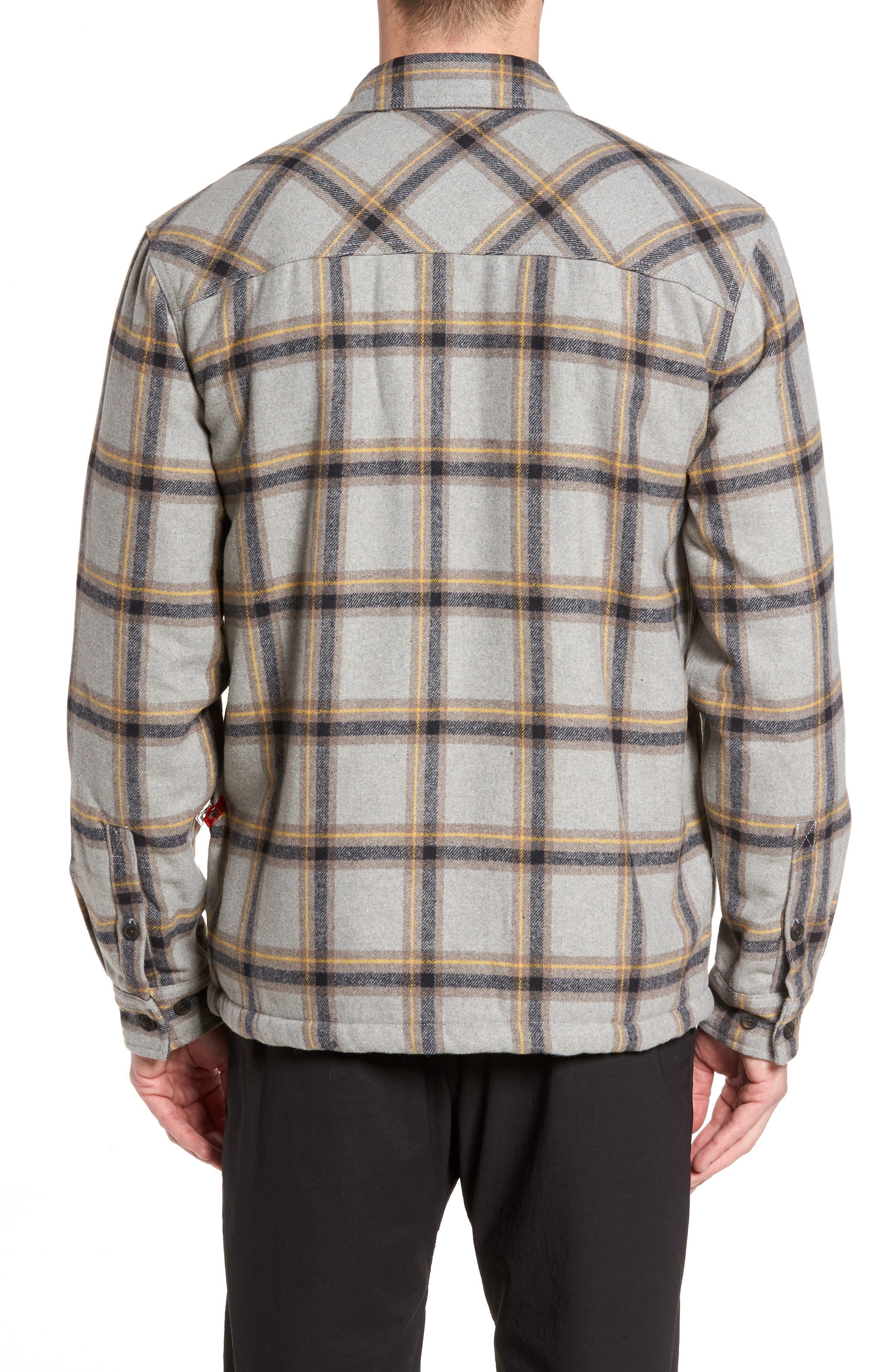 Tough Guy Plush Lined Flannel Shirt Jacket,                             Alternate thumbnail 2, color,                             Light Grey