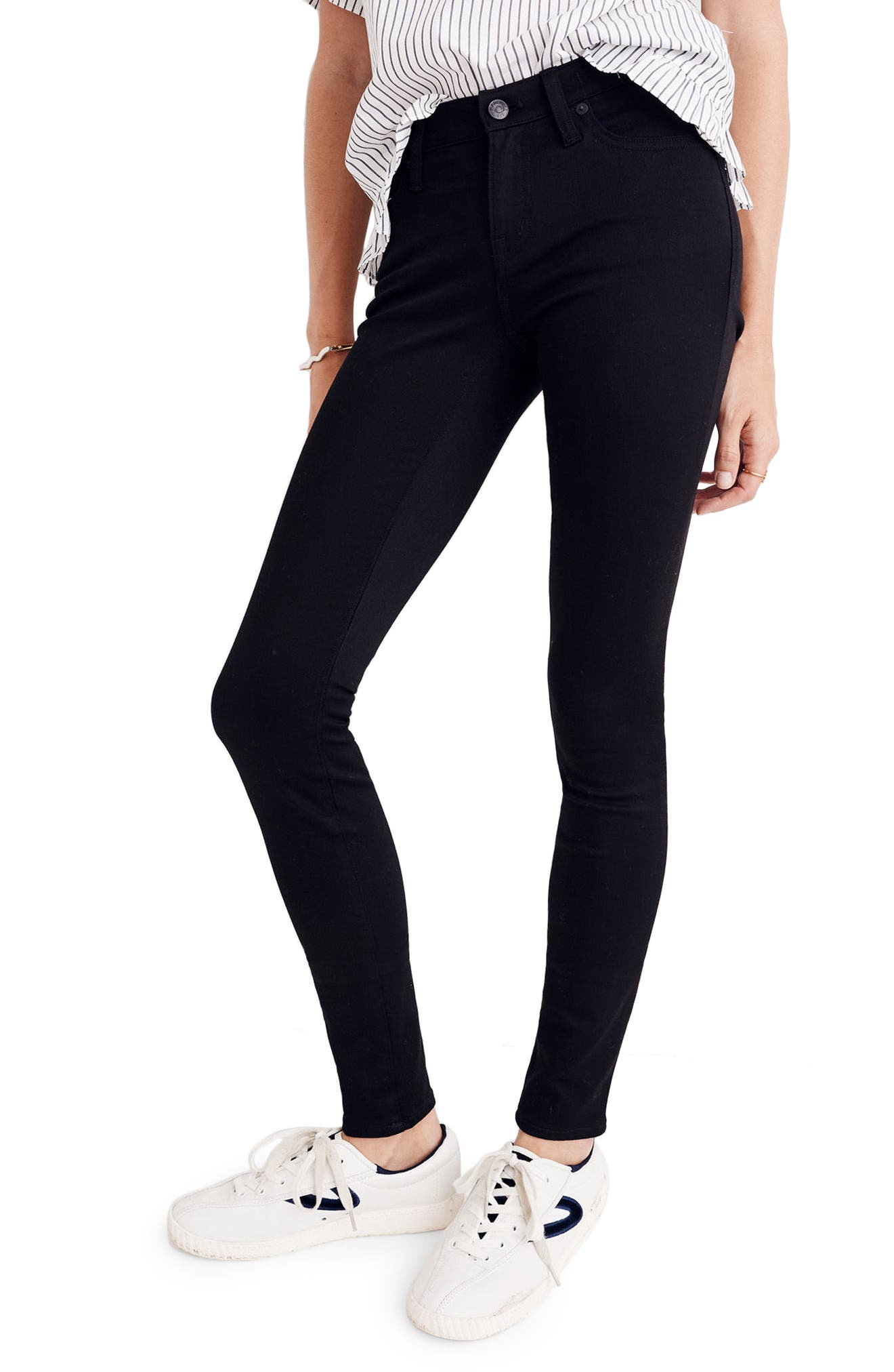 Alternate Image 2  - Madewell 8-Inch Skinny Jeans (Carbondale Wash)