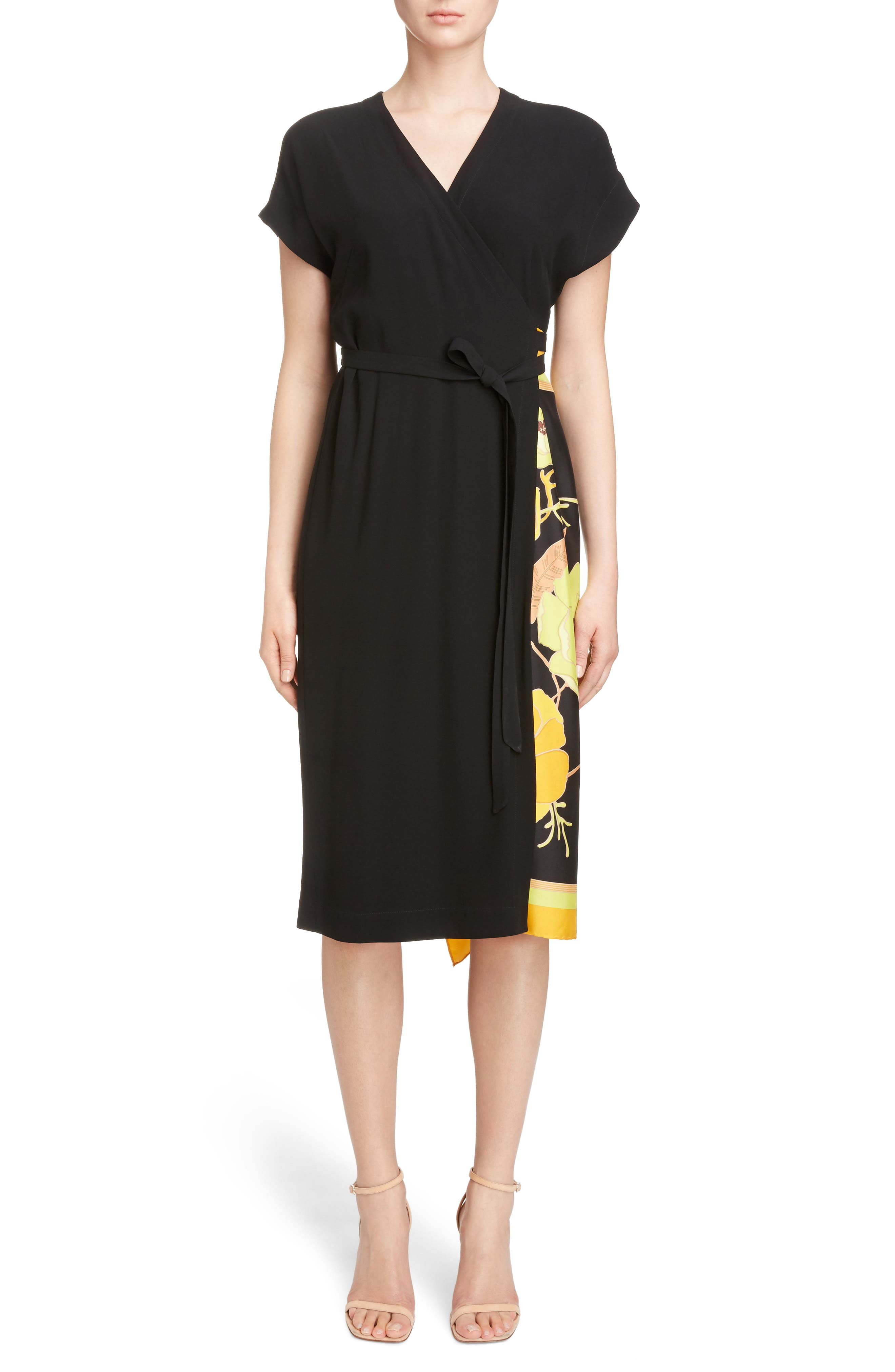 Dries Van Noten Scarf Wrap Dress