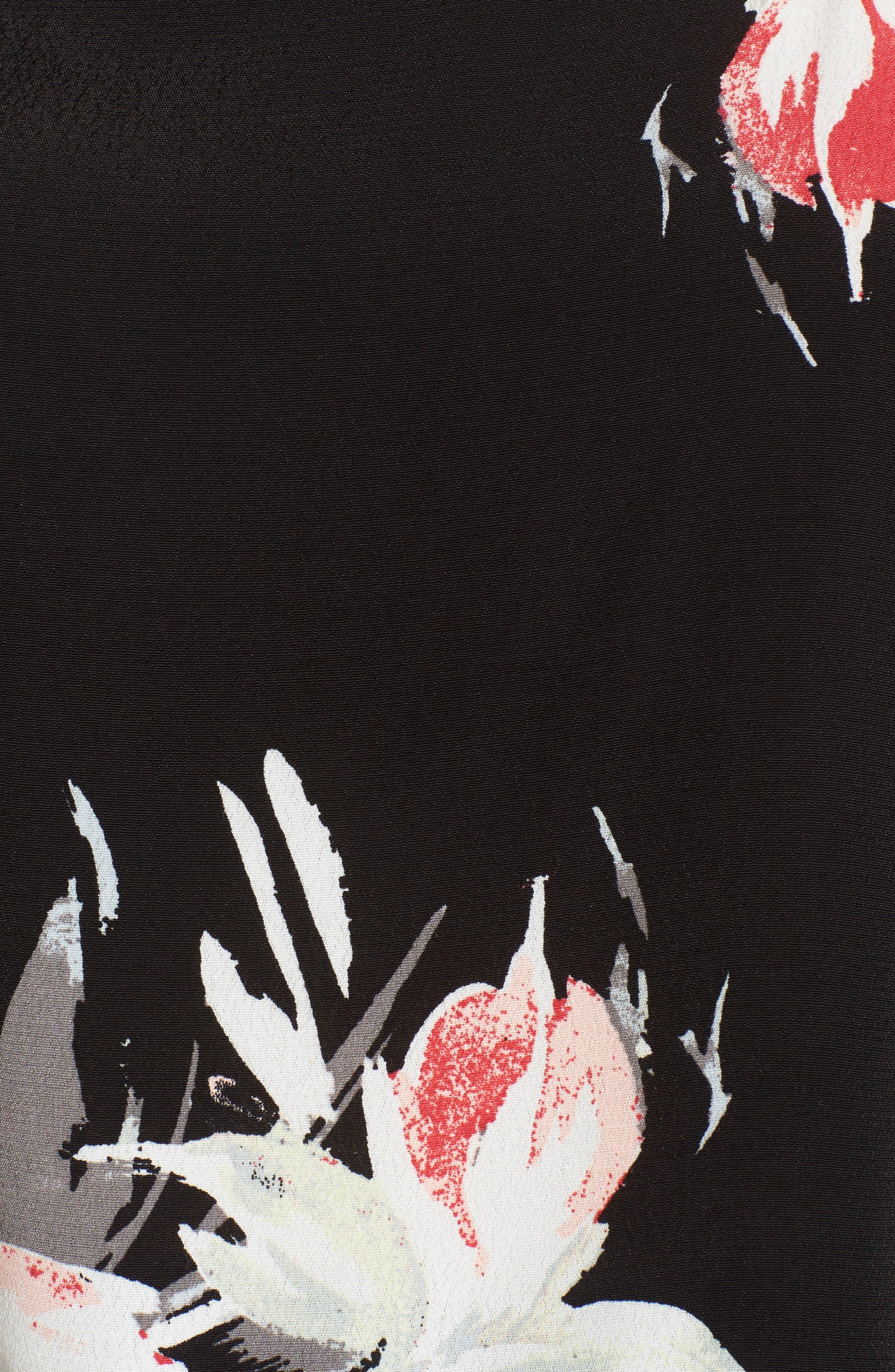 Square Neck Camisole,                             Alternate thumbnail 5, color,                             Black Fierc Edge Floral
