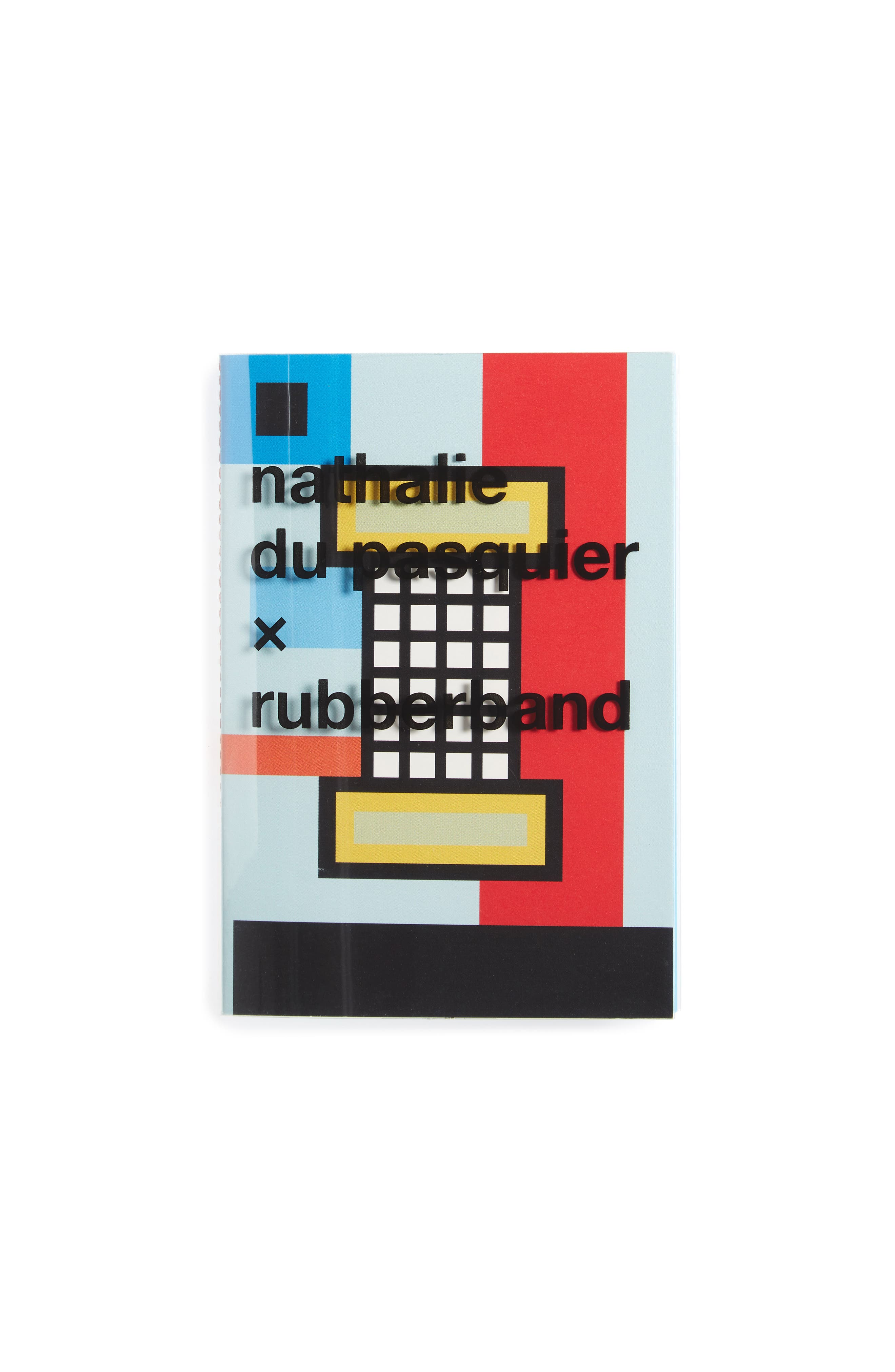 Nathalie Du Pasquier For Rubberband Small Notebook,                             Main thumbnail 1, color,                             Blue