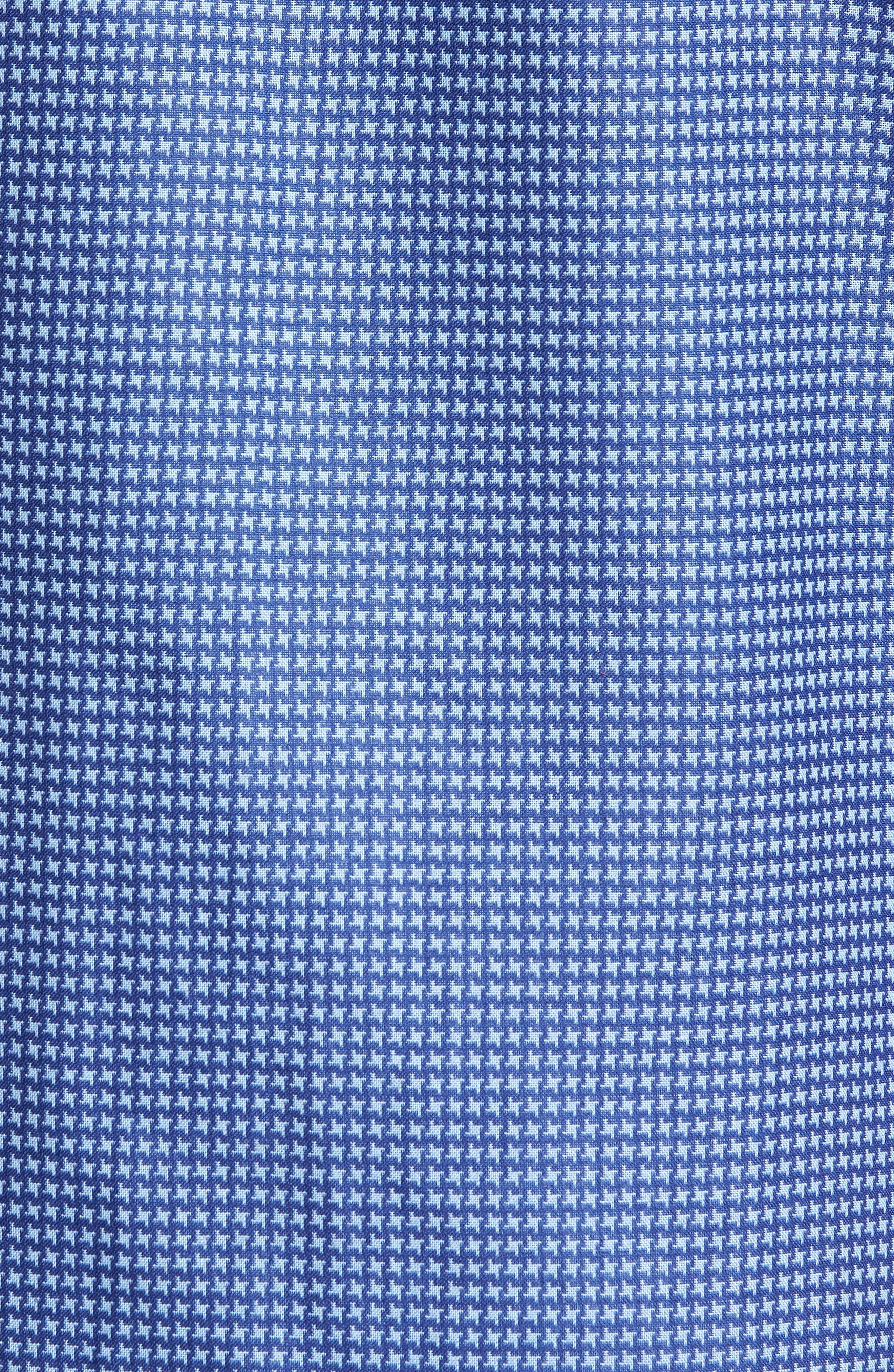 Classic Fit Print Sport Shirt,                             Alternate thumbnail 5, color,                             Navy