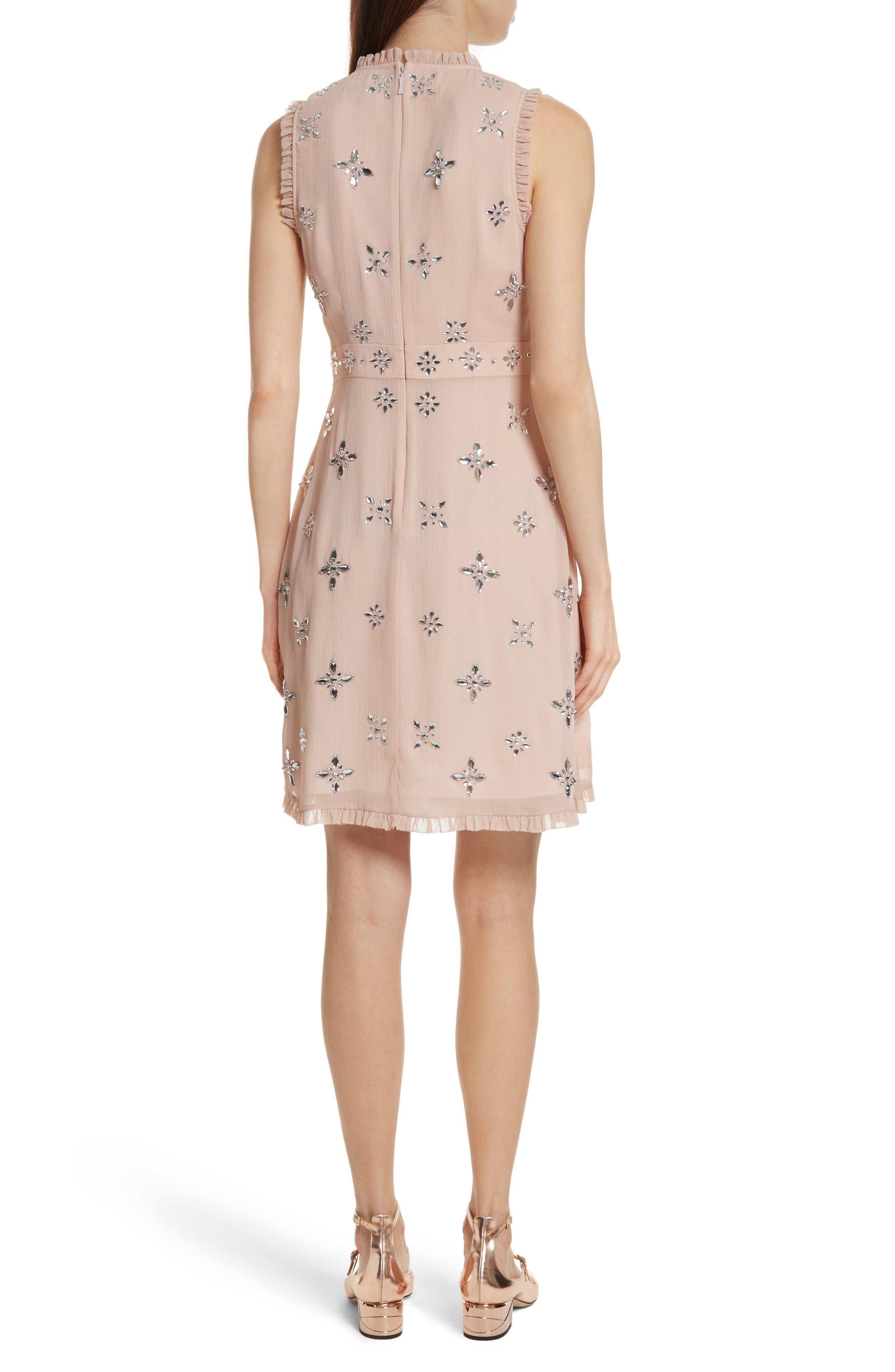 solani embellished chiffon dress,                             Alternate thumbnail 2, color,                             Amaretto