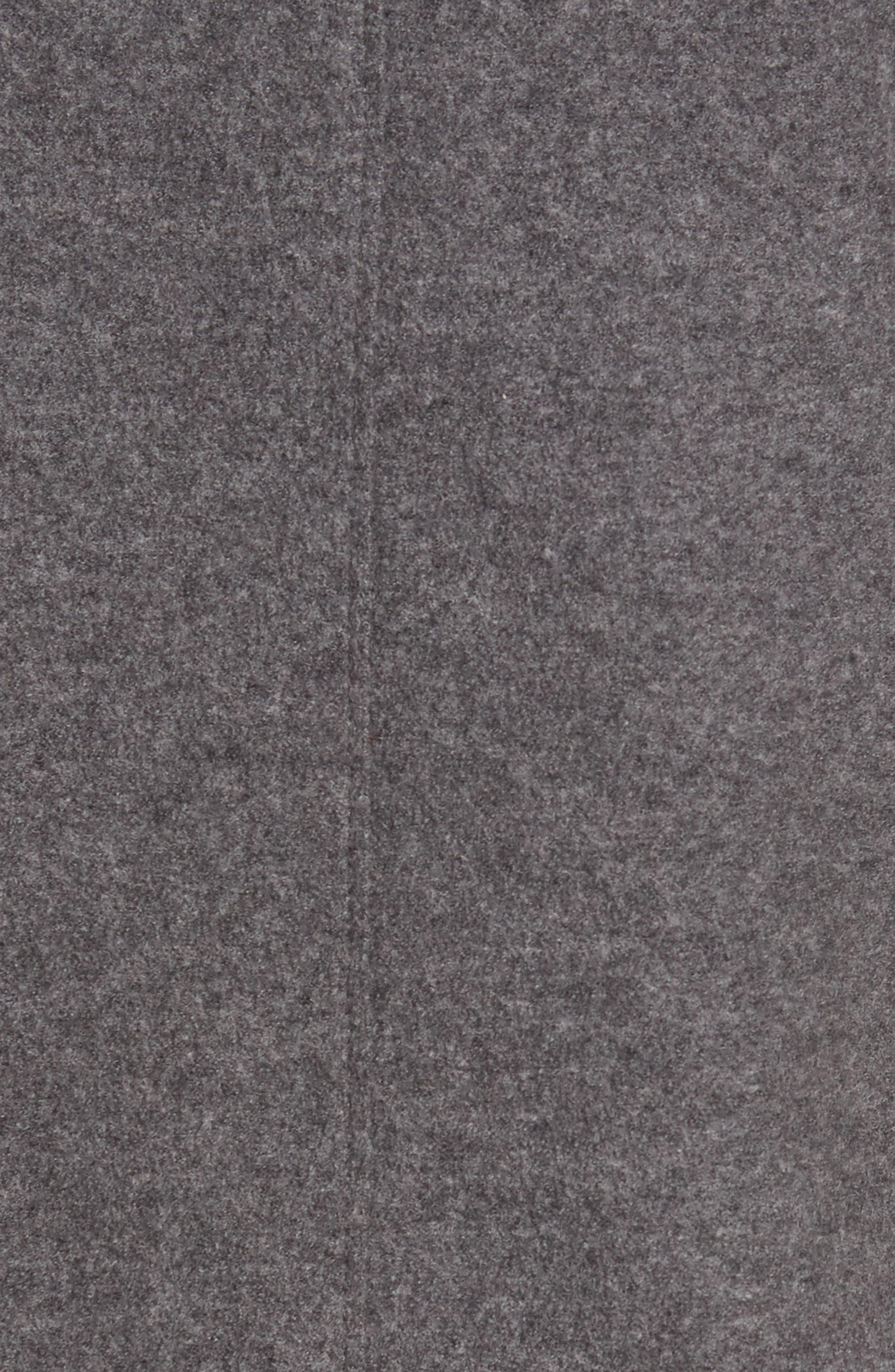 Notch Collar Merino Wool Jacket,                             Alternate thumbnail 5, color,                             Ash