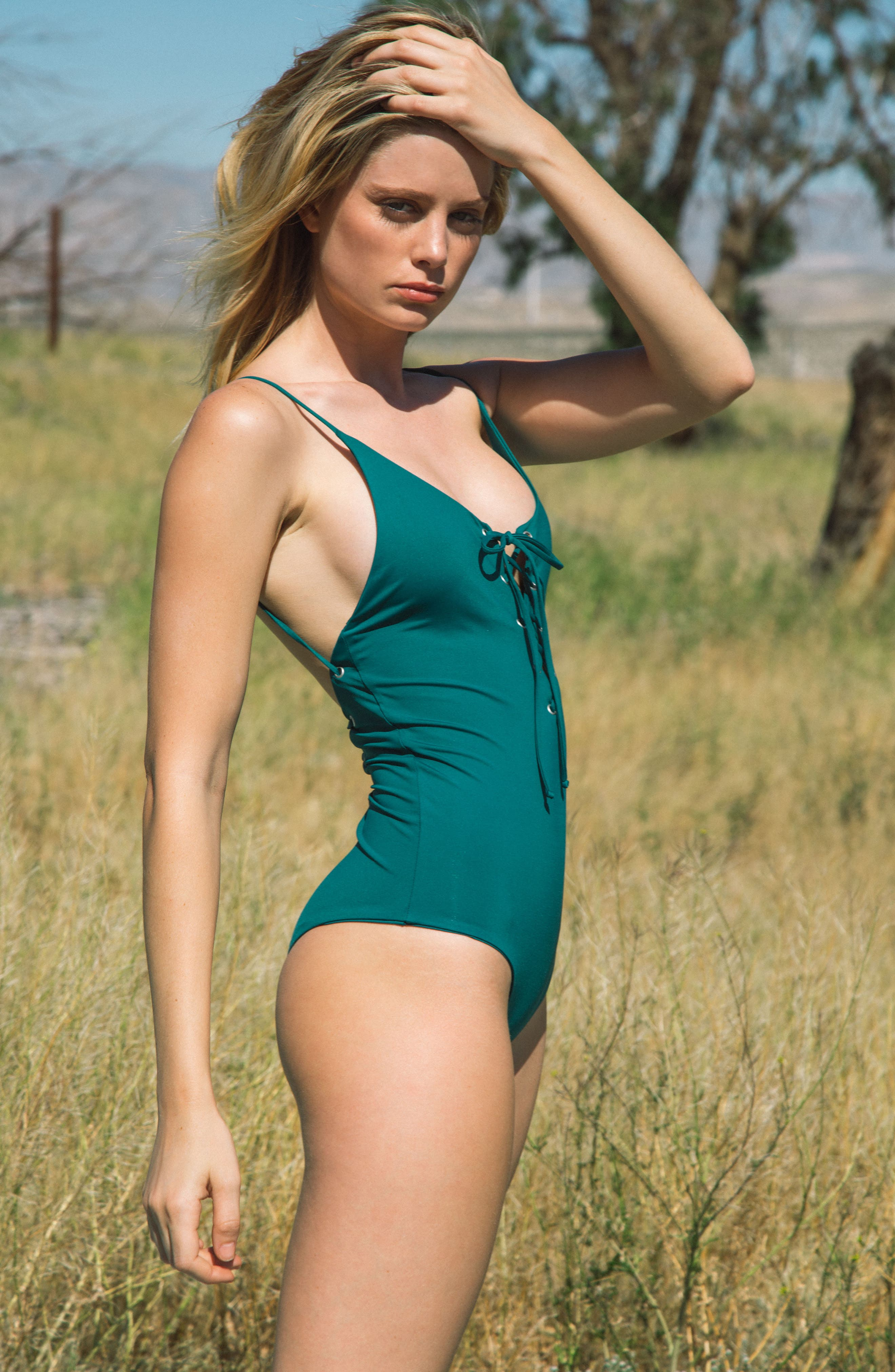 Monahan One-Piece Swimsuit,                             Alternate thumbnail 6, color,                             Storm Green