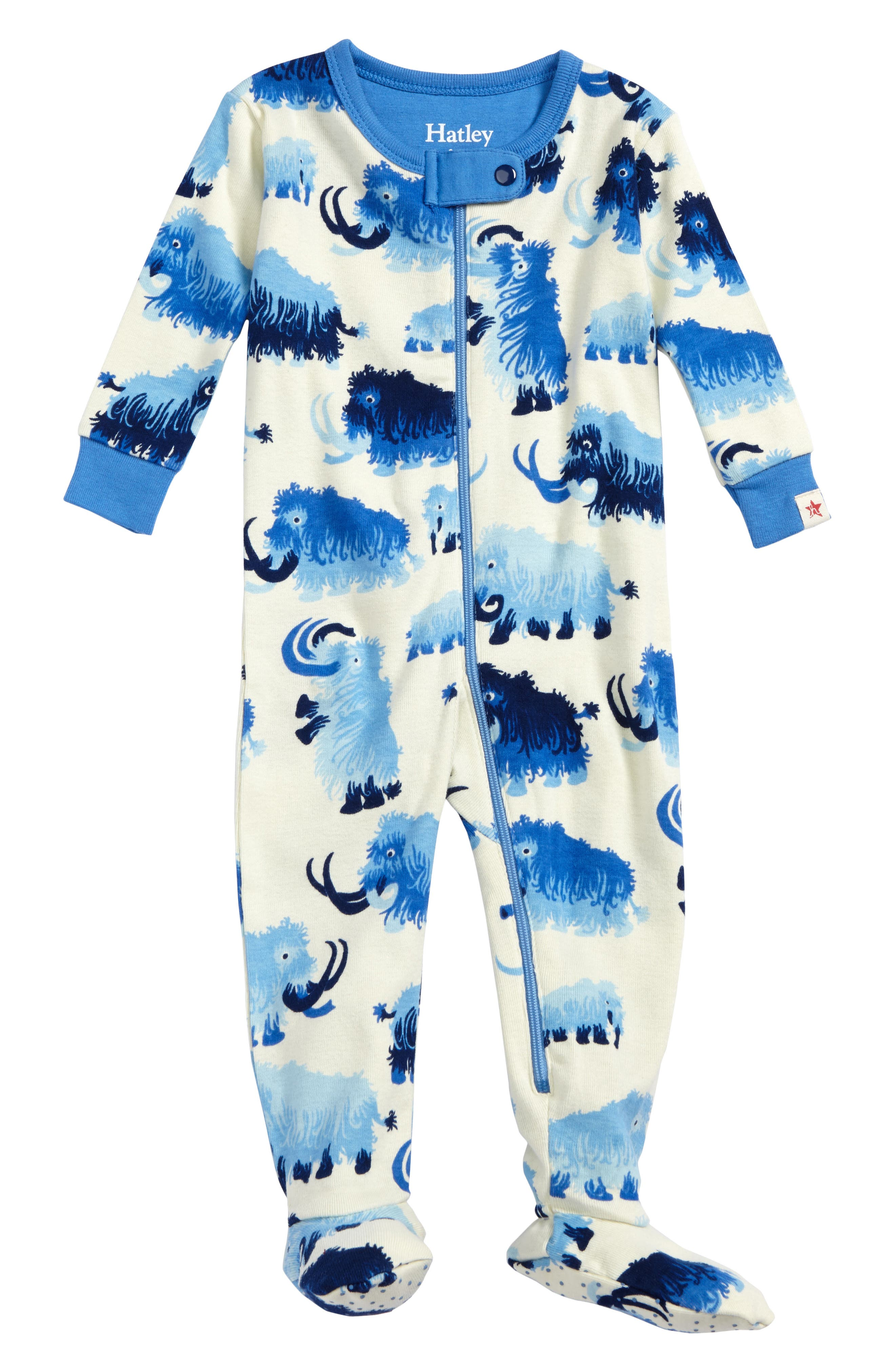 Hatley Woolly Mammoth Organic Cotton Fitted One-Piece Pajamas (Baby Boys)