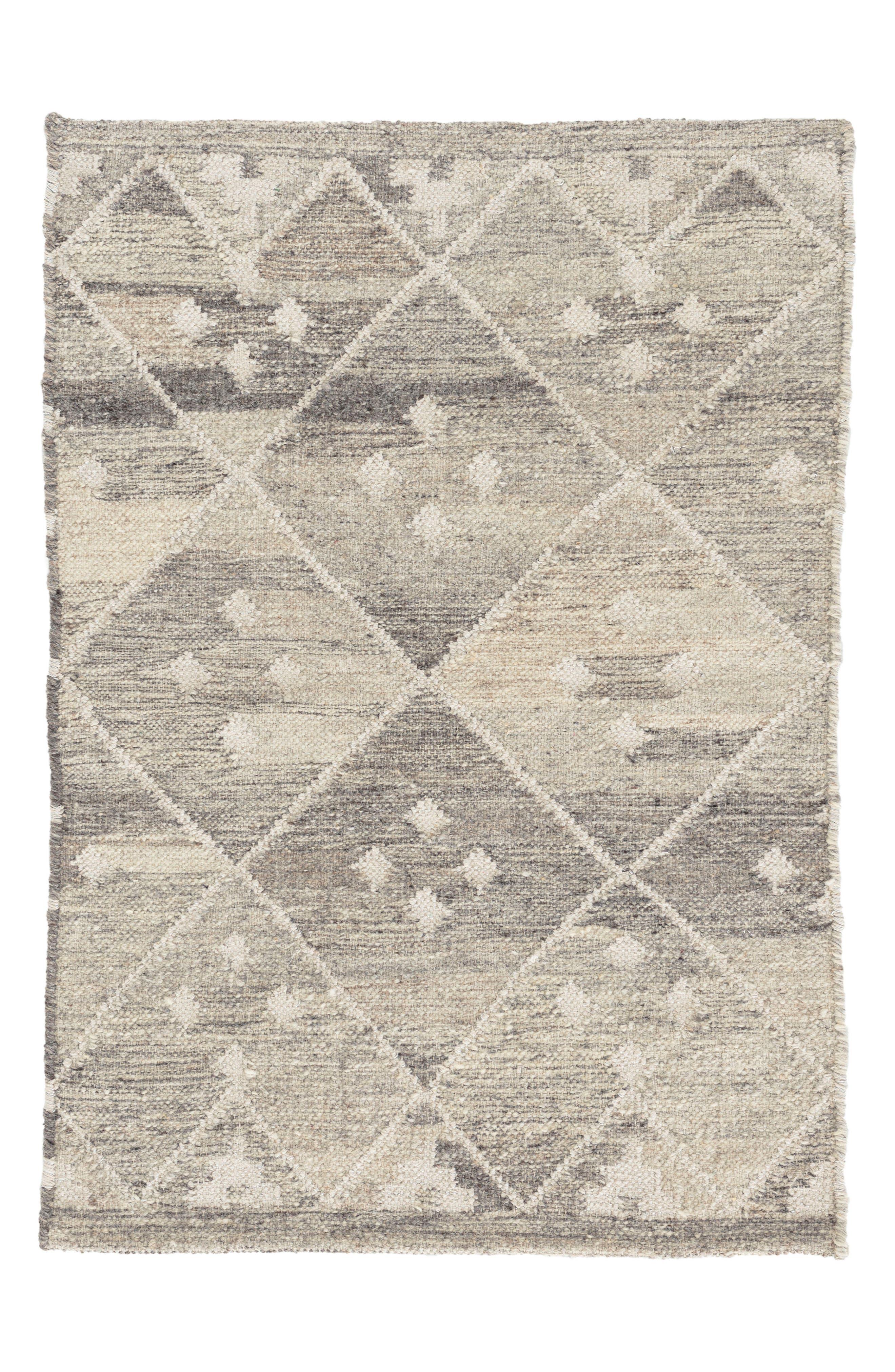 Kota Woven Wool & Cotton Rug,                             Main thumbnail 1, color,                             Neutral