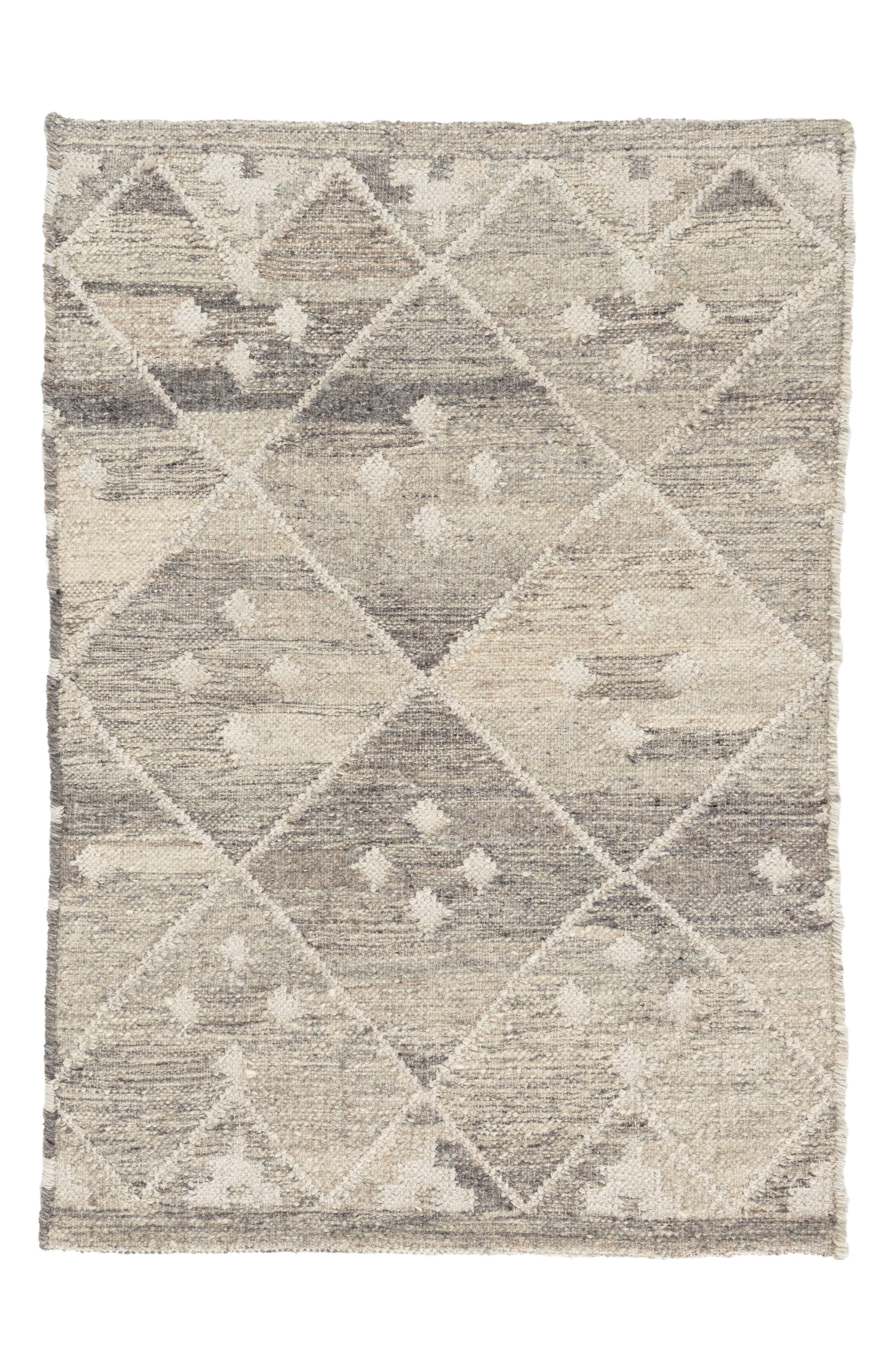 Kota Woven Wool & Cotton Rug,                         Main,                         color, Neutral