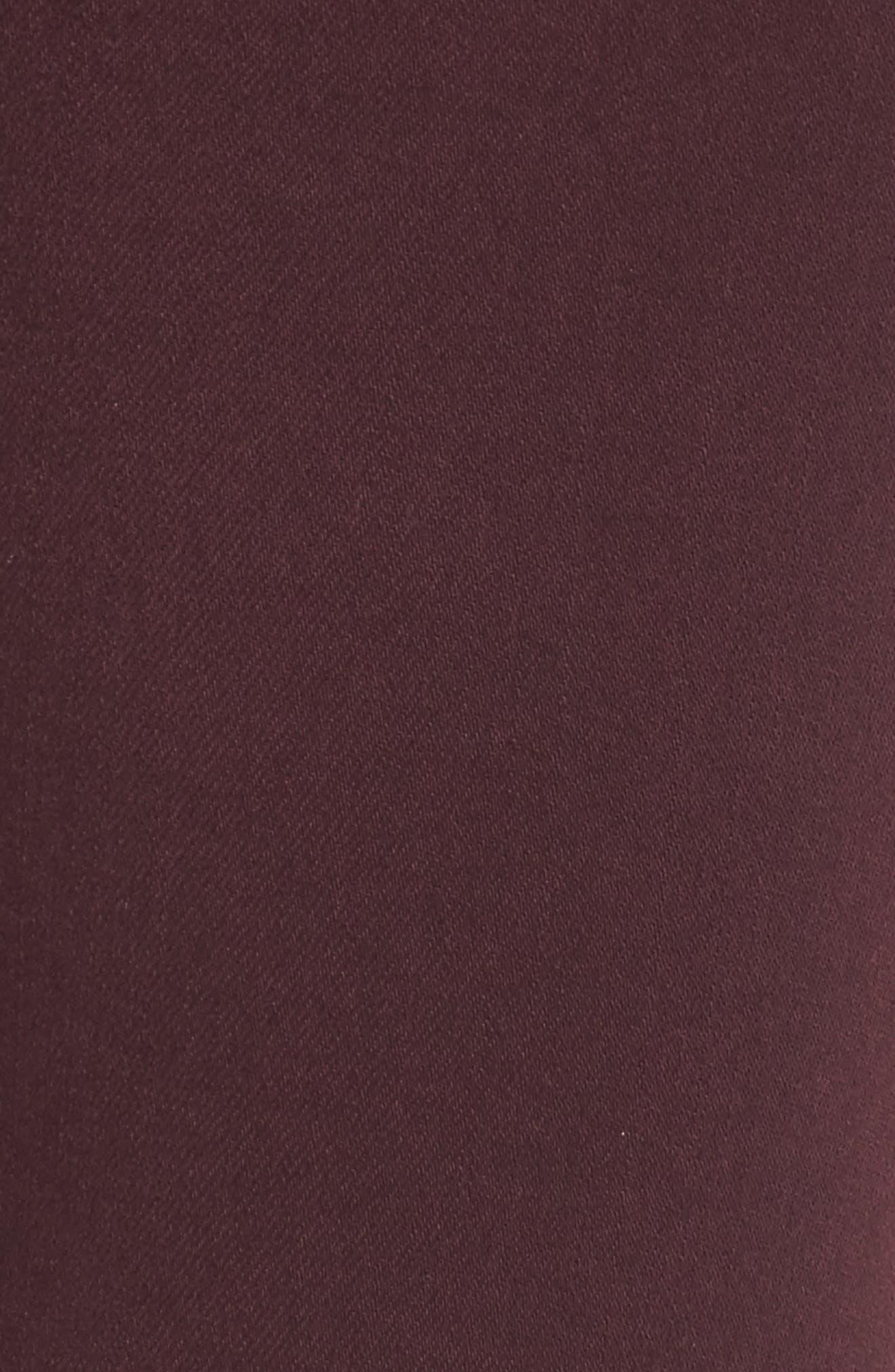 Alternate Image 5  - Good American Good Legs High Waist Skinny Jeans (Burgundy 001) (Regular & Plus Size)