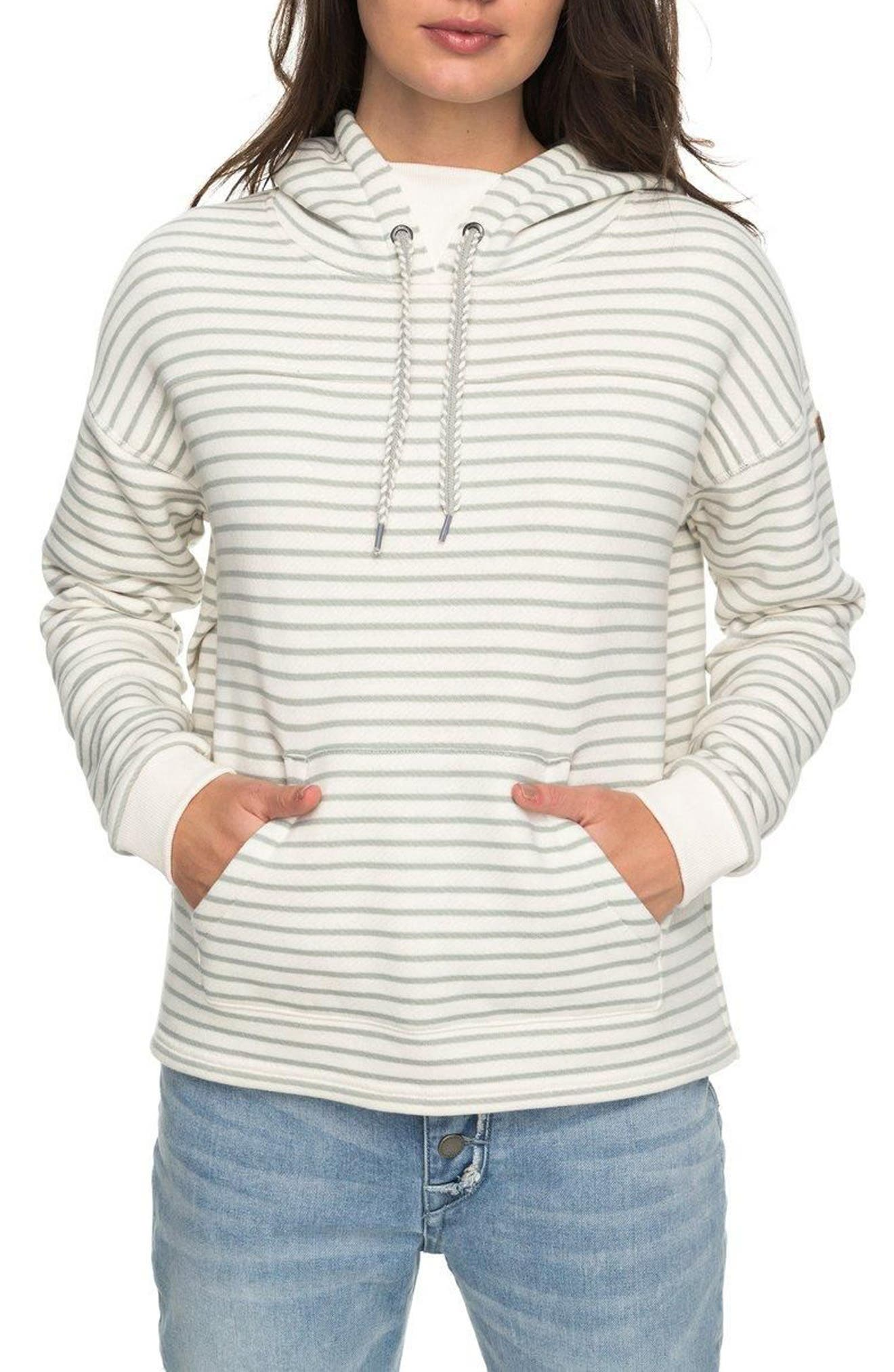 Alternate Image 1 Selected - Roxy Greatest Glory Stripe Hoodie