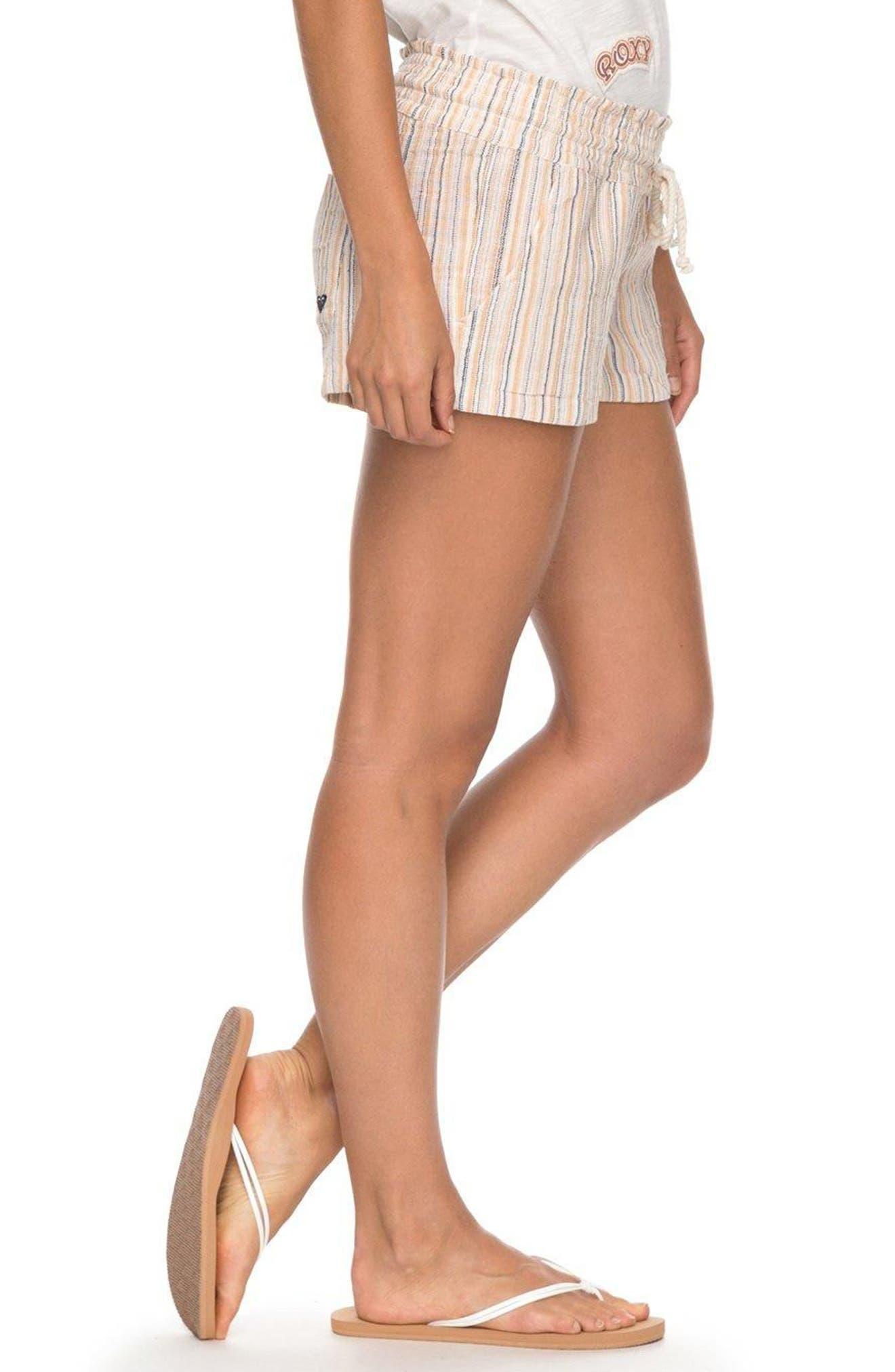 Oceanside Yarn-Dyed Shorts,                             Alternate thumbnail 3, color,                             Oak Buff