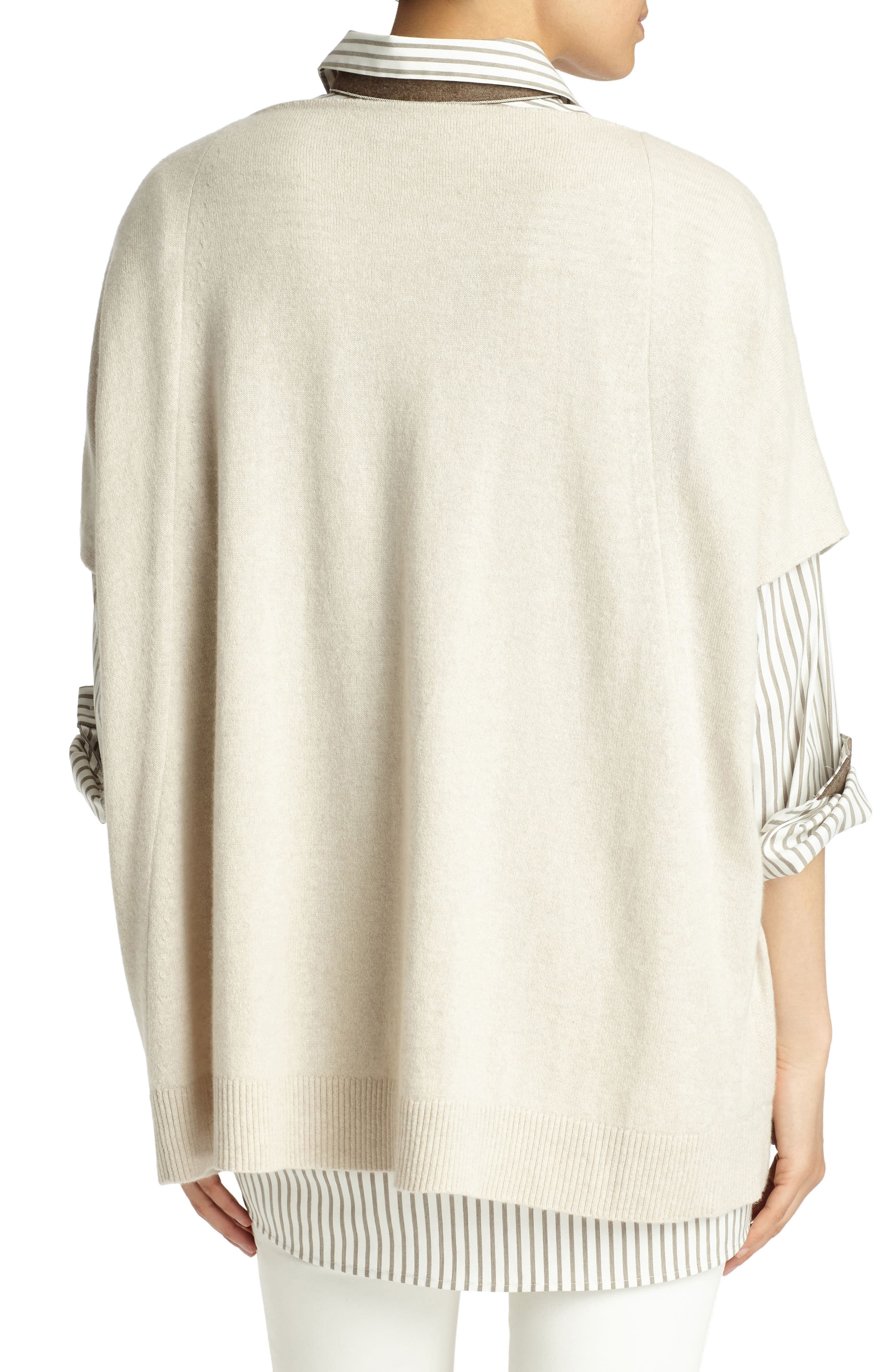 Cashmere Sweater,                             Alternate thumbnail 2, color,                             Oatmeal Melange