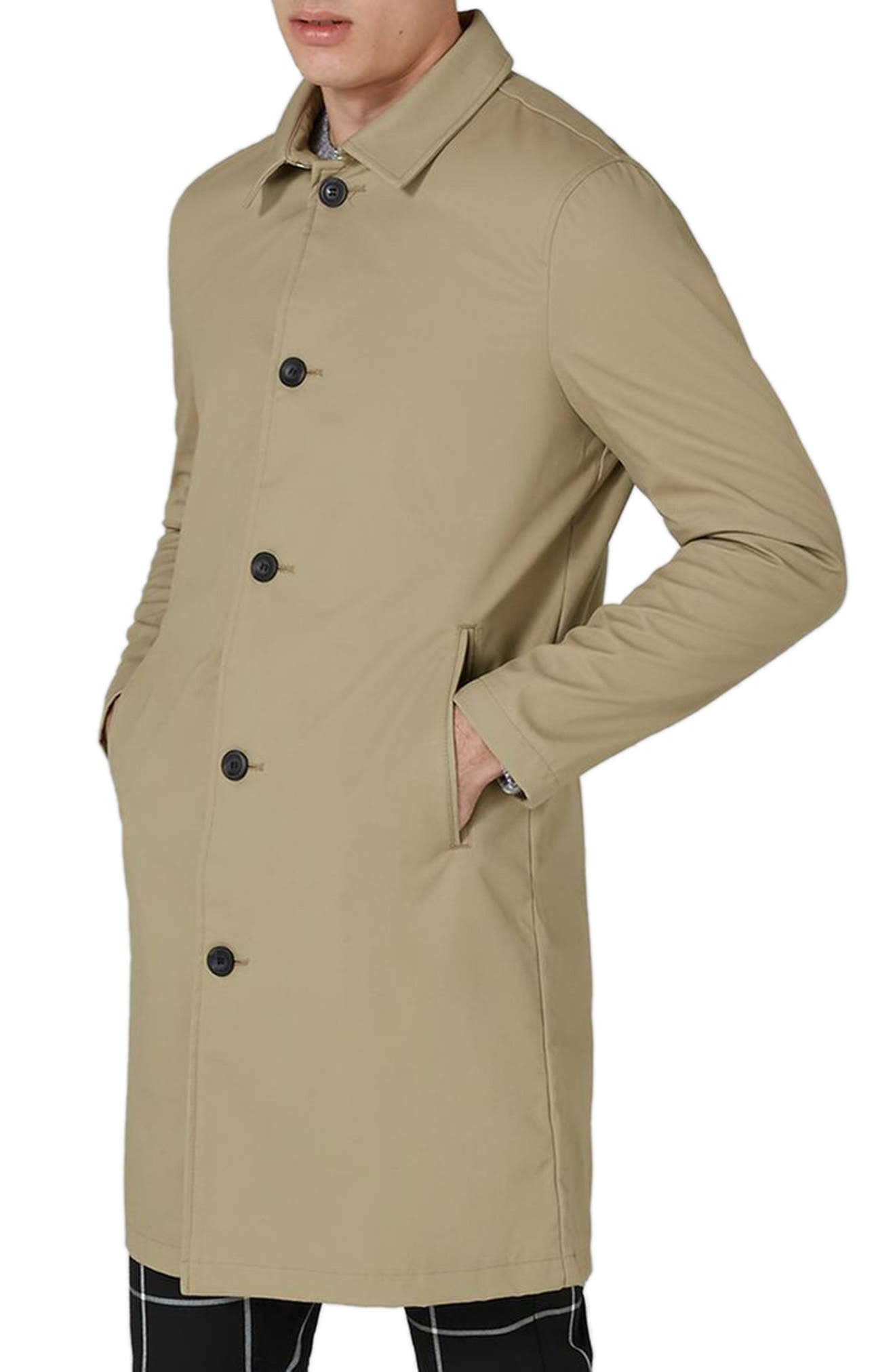 Main Image - Topman Mac Single Breasted Topcoat