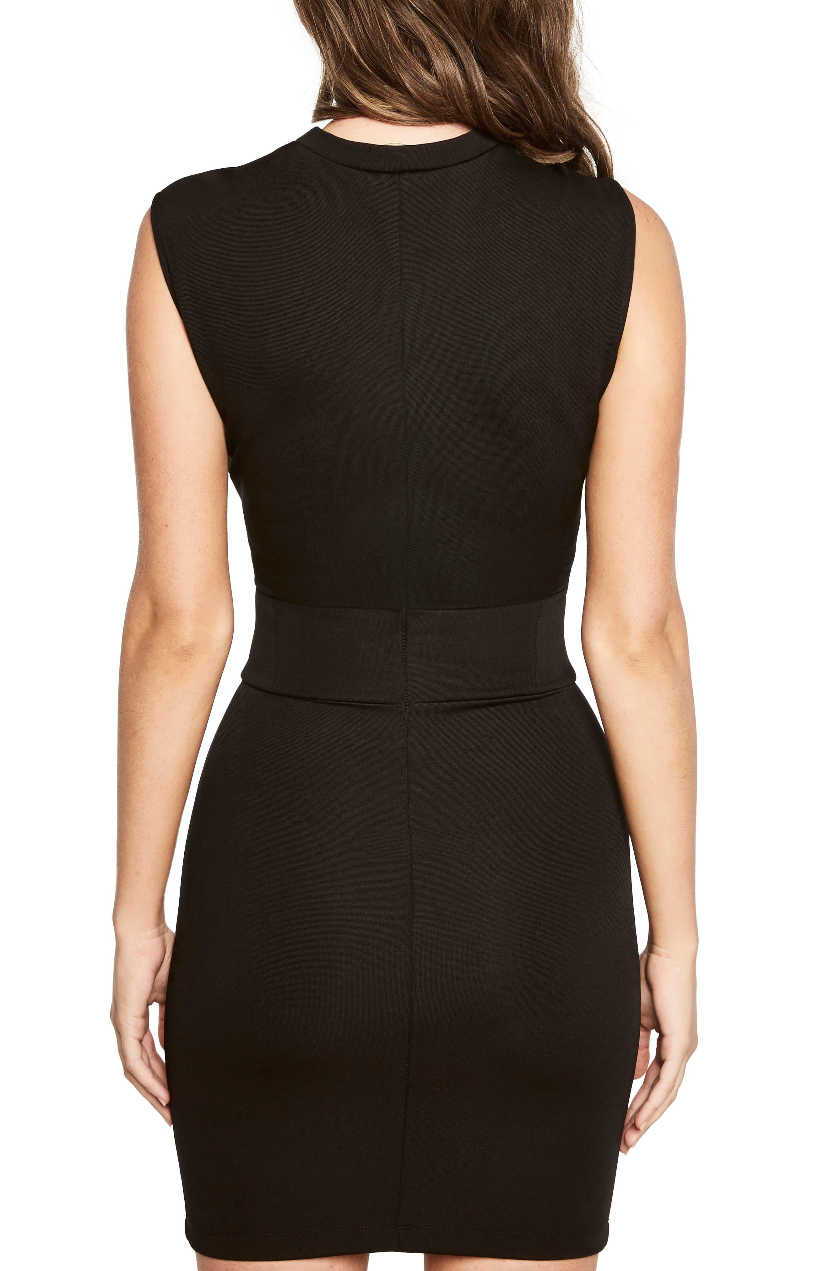 Mila Corset Body-Con Dress,                             Alternate thumbnail 2, color,                             Black