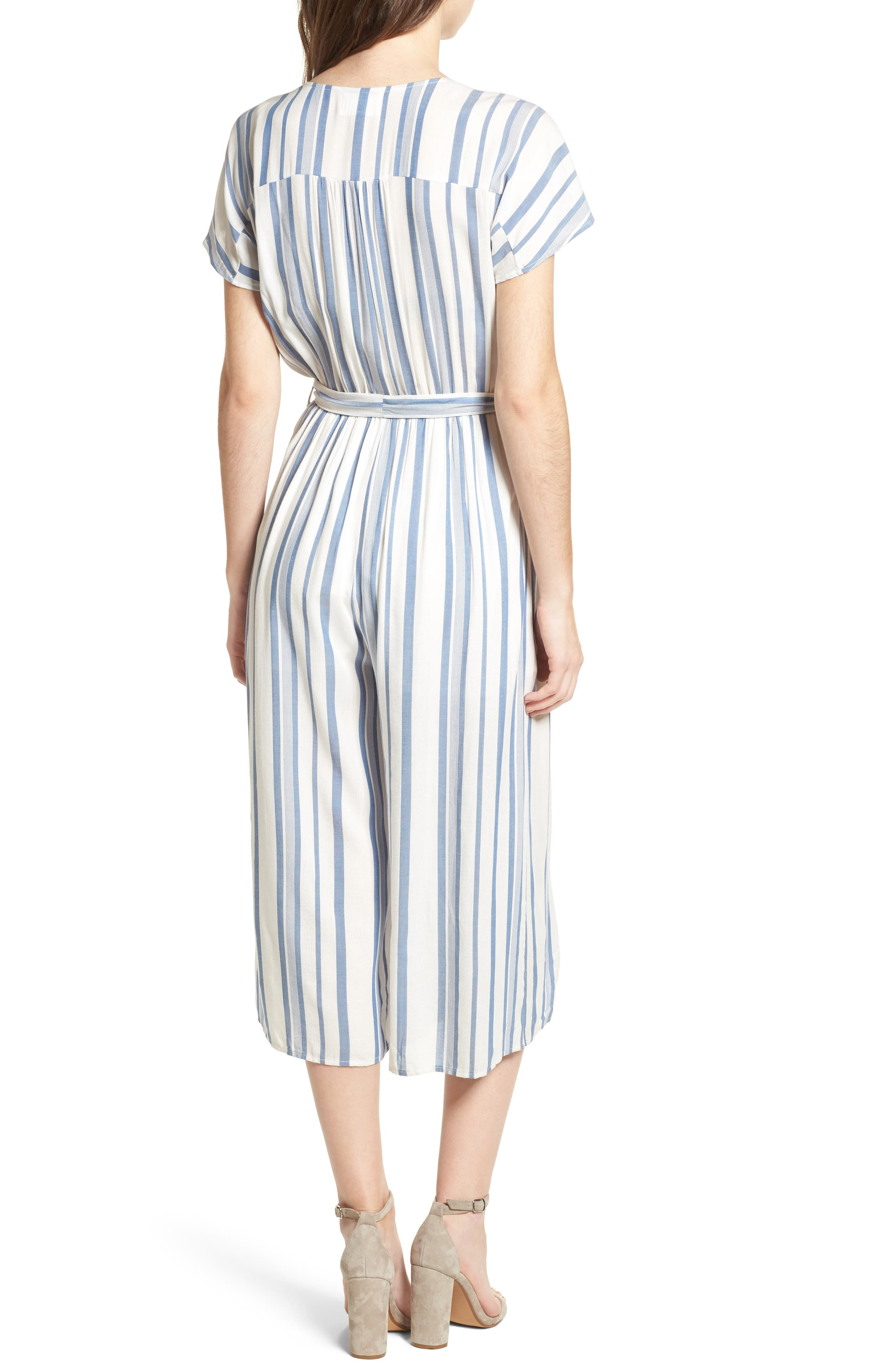 Alternate Image 2  - Lost + Wander Marina Pinstripe Jumpsuit