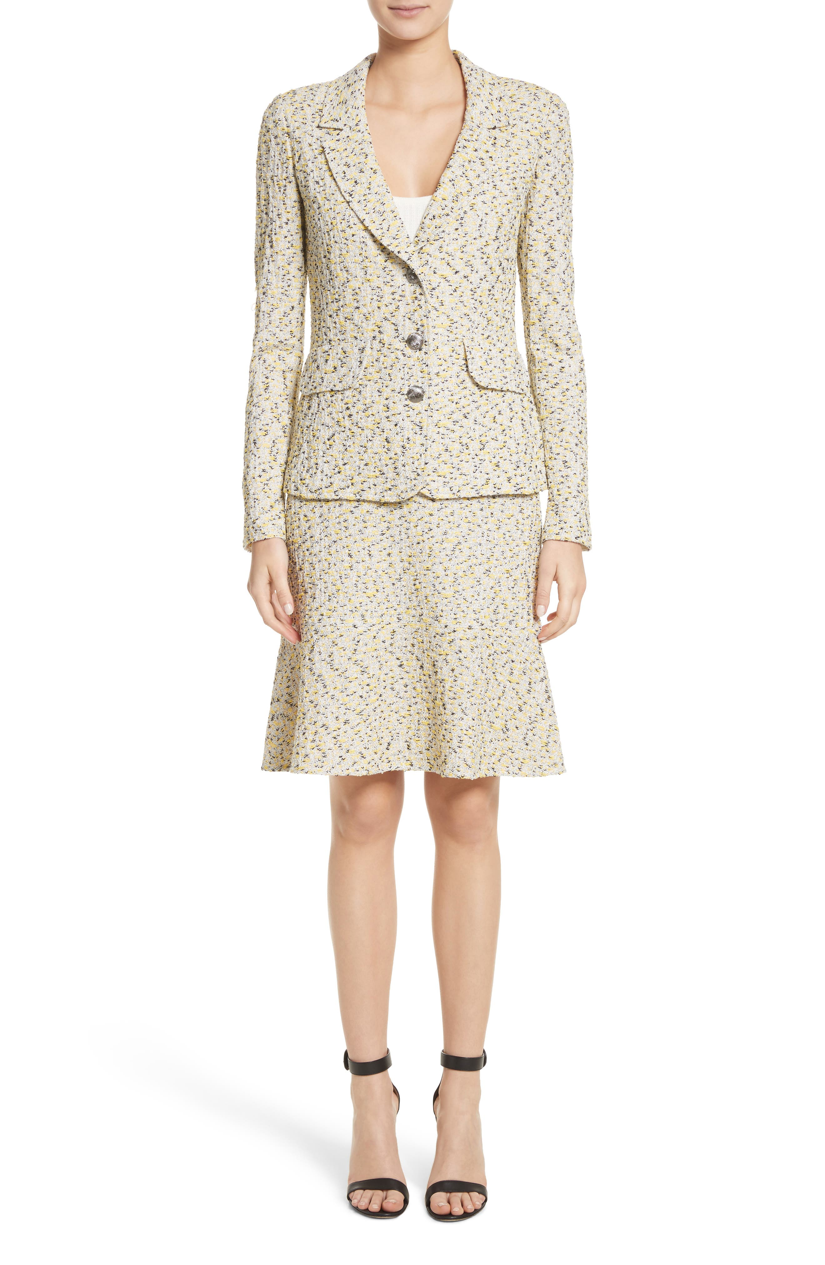 Alternate Image 7  - St. John Collection Romee Tweed Fit & Flare Skirt