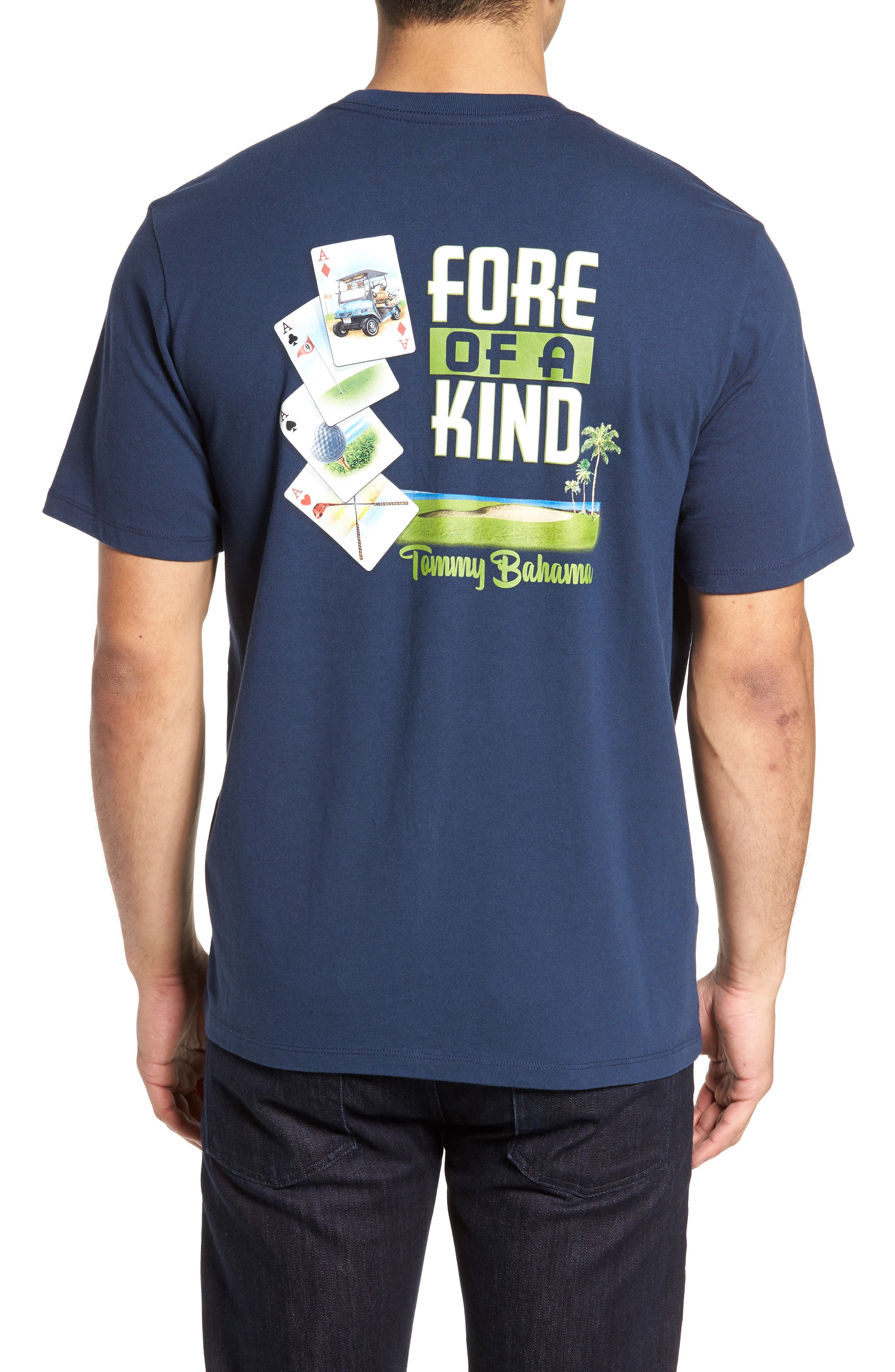 Fore of a Kind Graphic T-Shirt,                             Alternate thumbnail 2, color,                             Navy