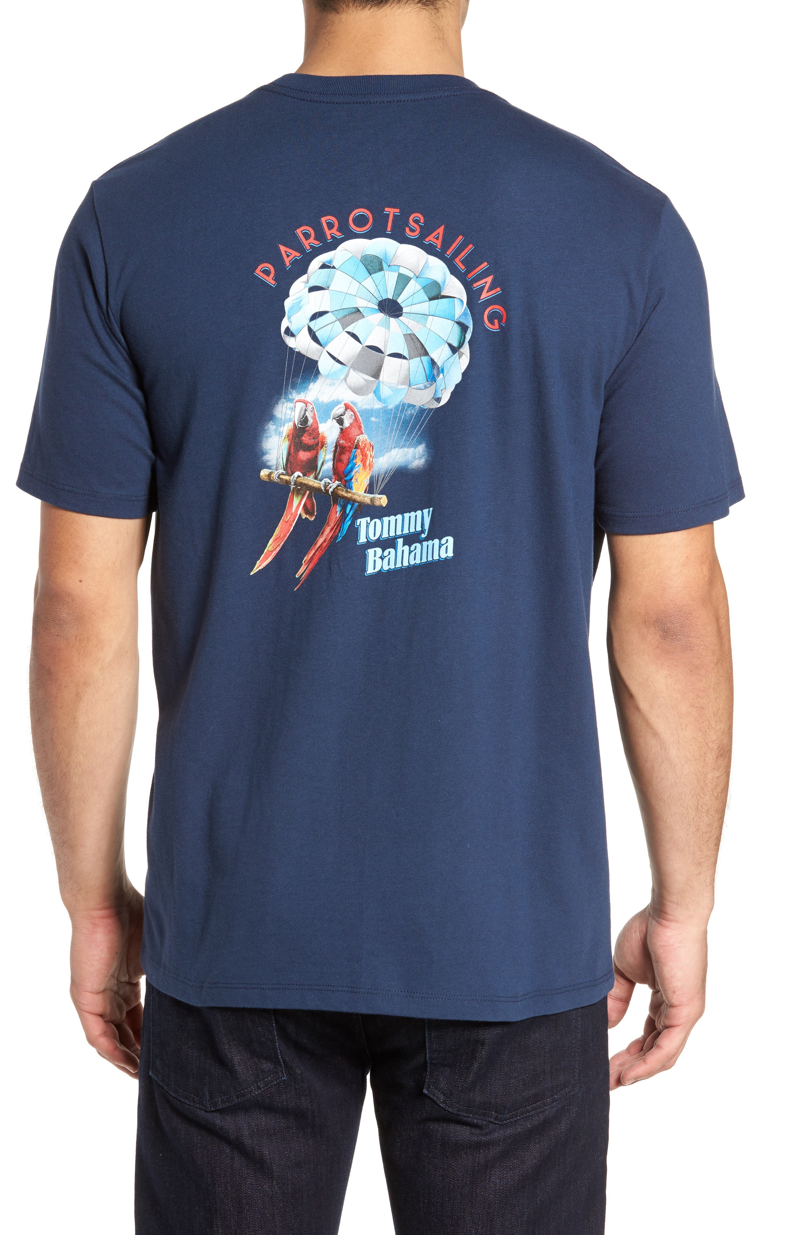 Parrot Sailing T-Shirt,                             Alternate thumbnail 2, color,                             Navy