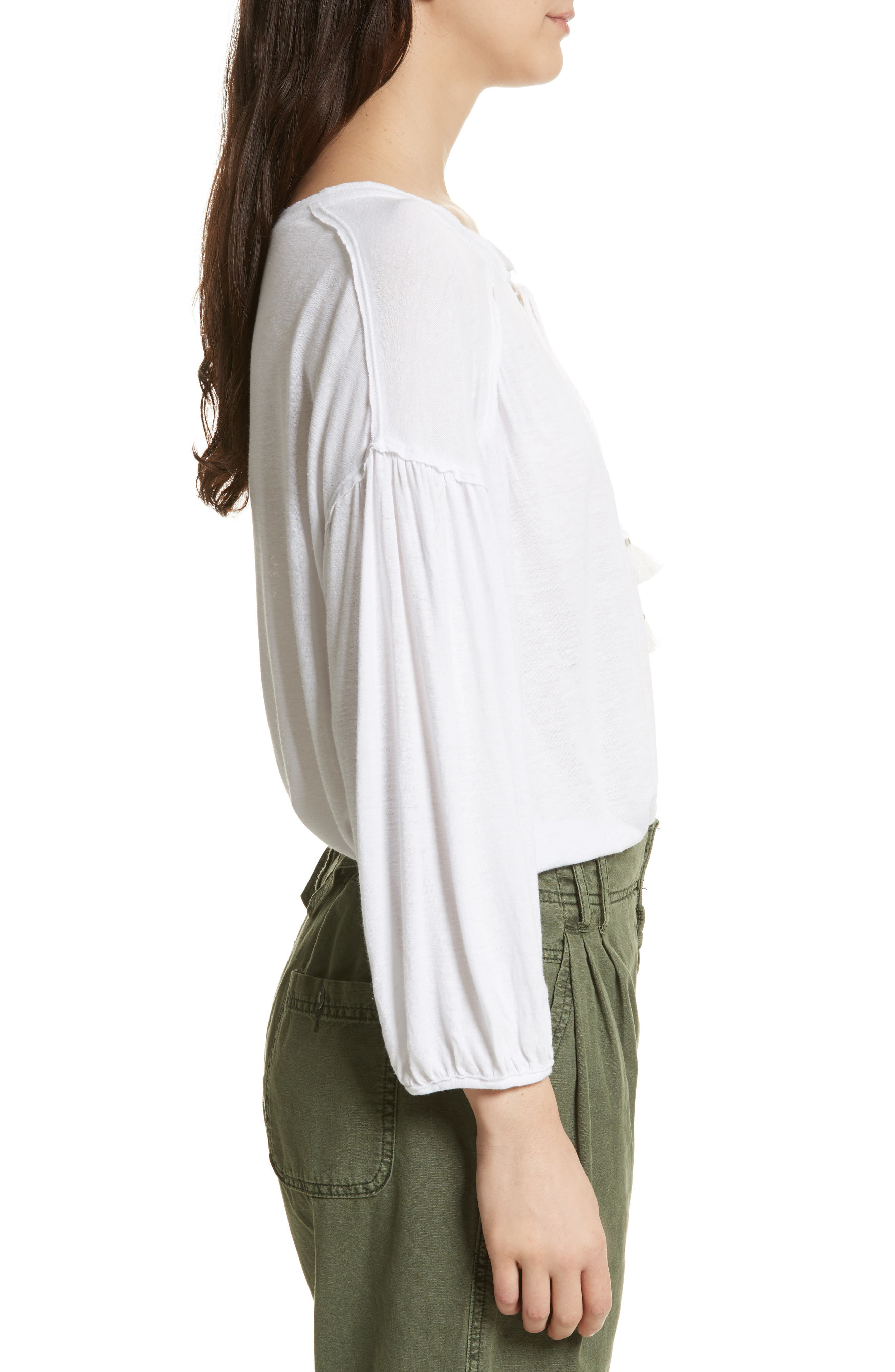 Just a Henley Top,                             Alternate thumbnail 3, color,                             White