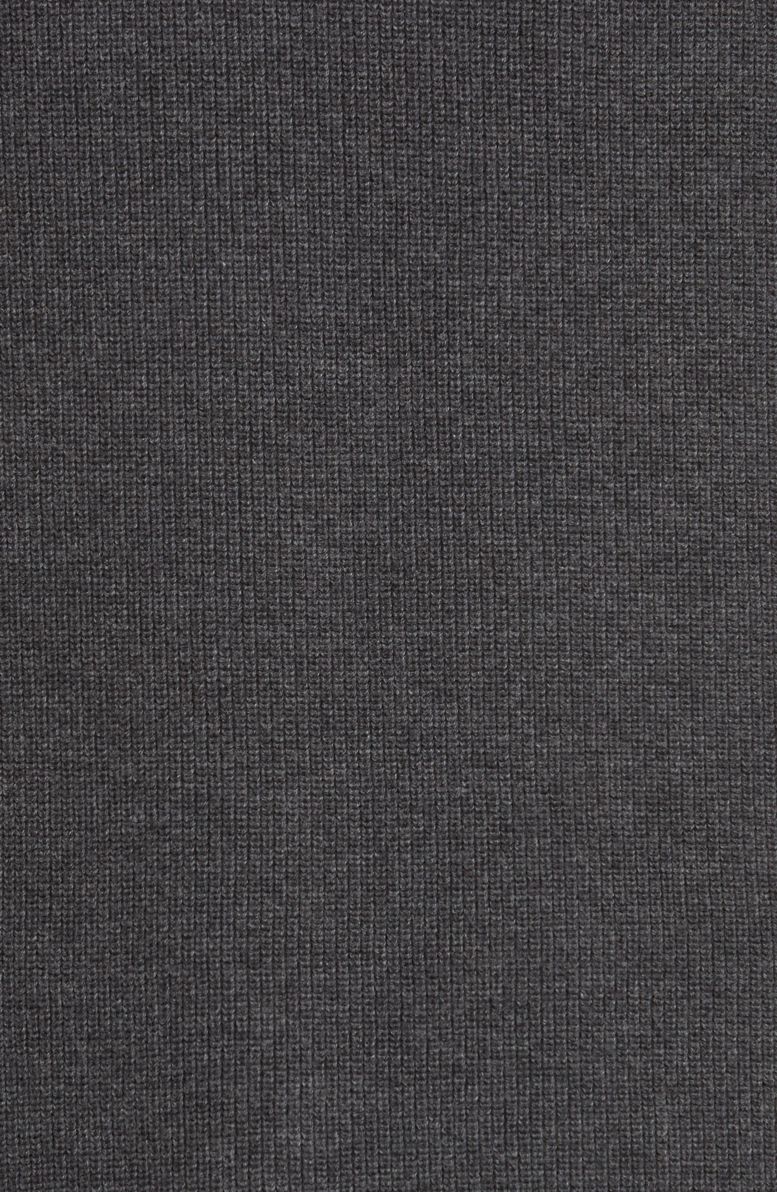 Quarter Zip Hoodie,                             Alternate thumbnail 5, color,                             Grey