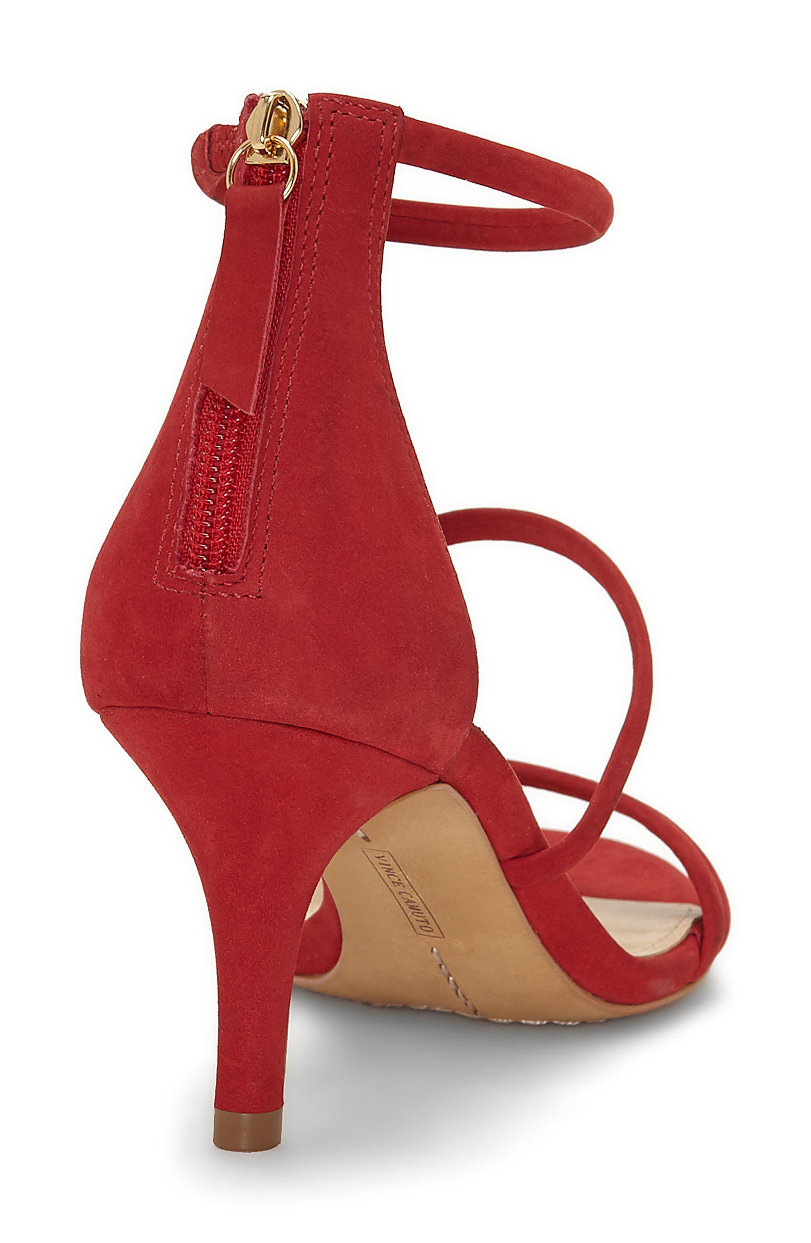Aviran Sandal,                             Alternate thumbnail 2, color,                             Ruby Red Nubuck Leather