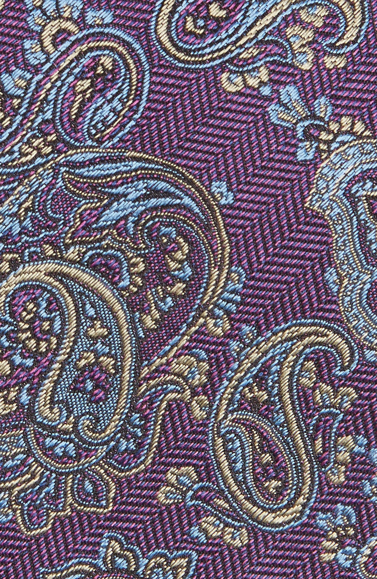 Paisley Silk Tie,                             Alternate thumbnail 2, color,                             Berry