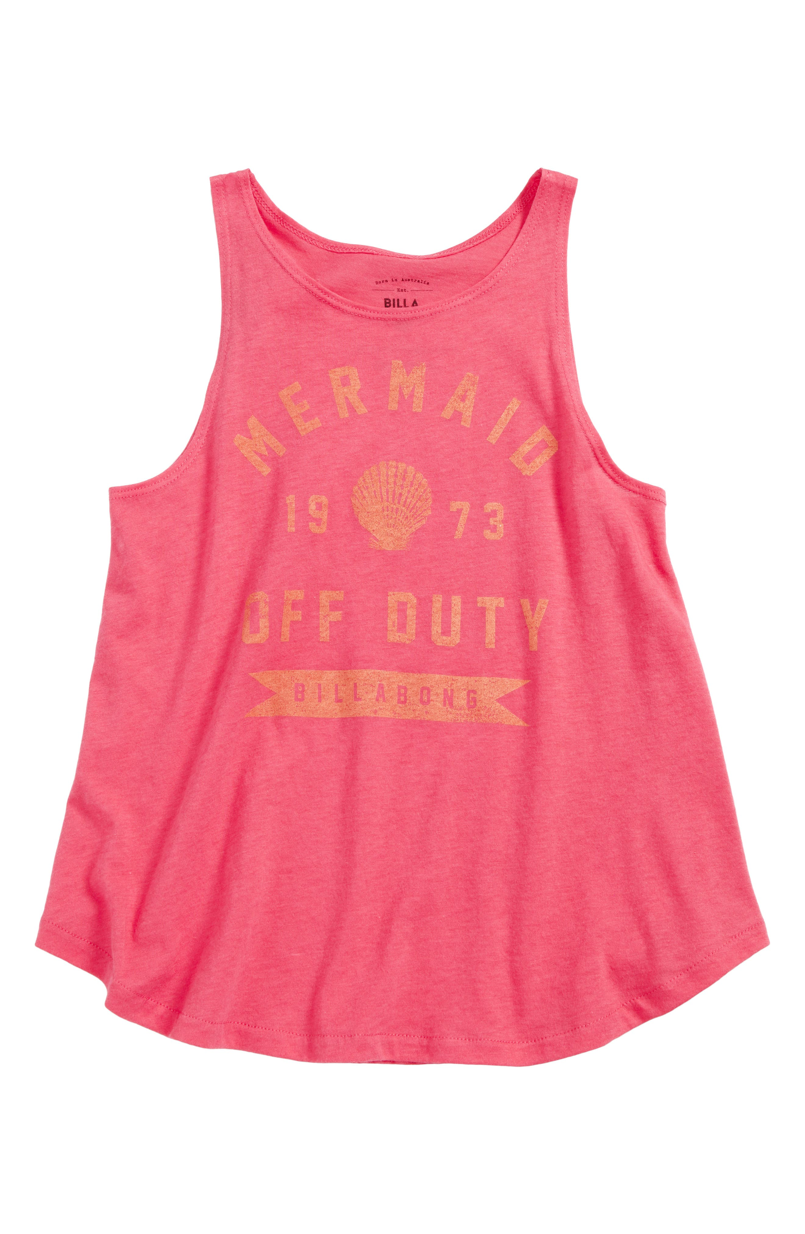 Off Duty Mermaid Graphic Tank,                             Main thumbnail 1, color,                             Passion Fruit