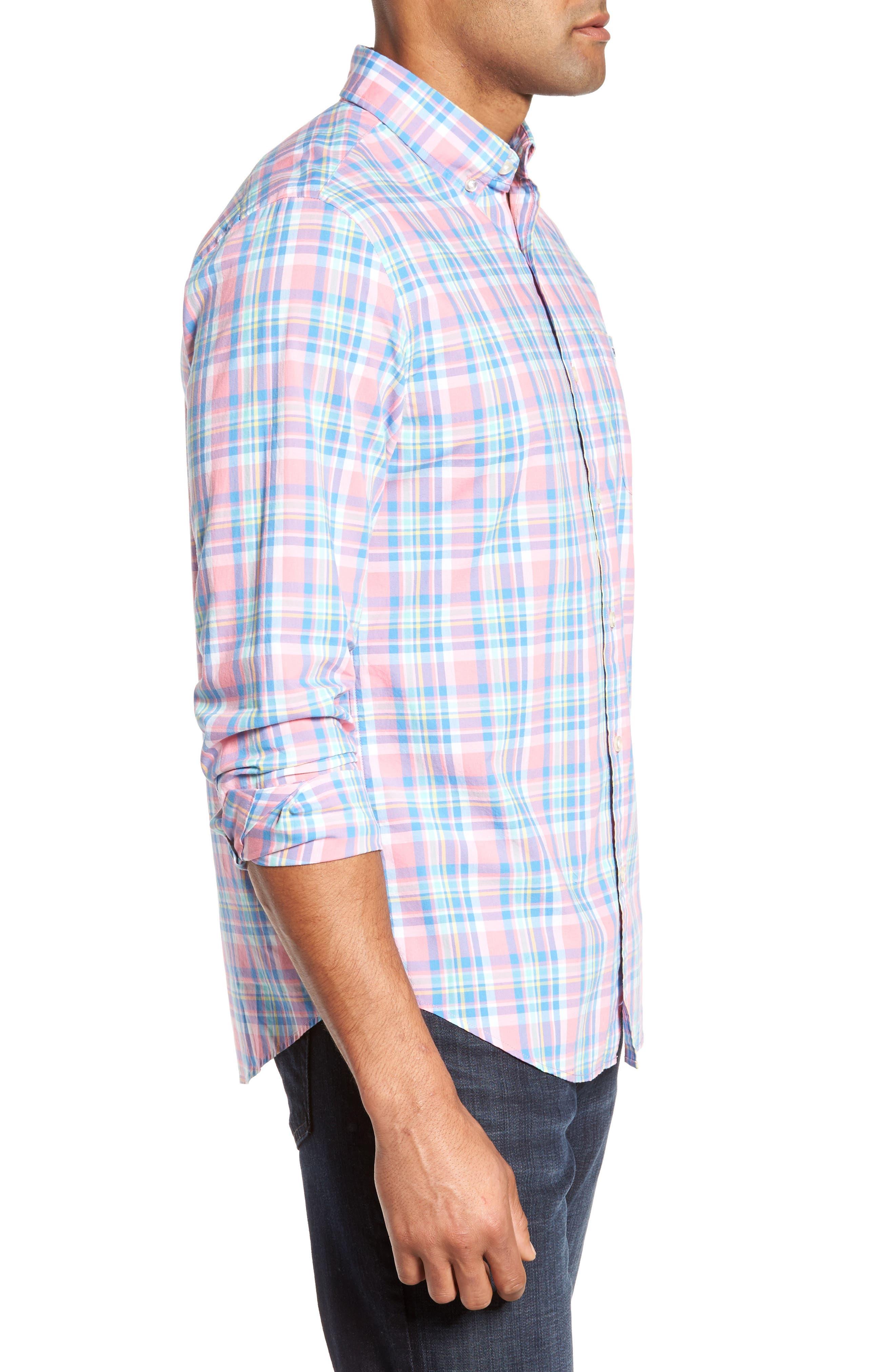 Alternate Image 3  - vineyard vines Cape Haze Tucker Slim Fit Plaid Sport Shirt