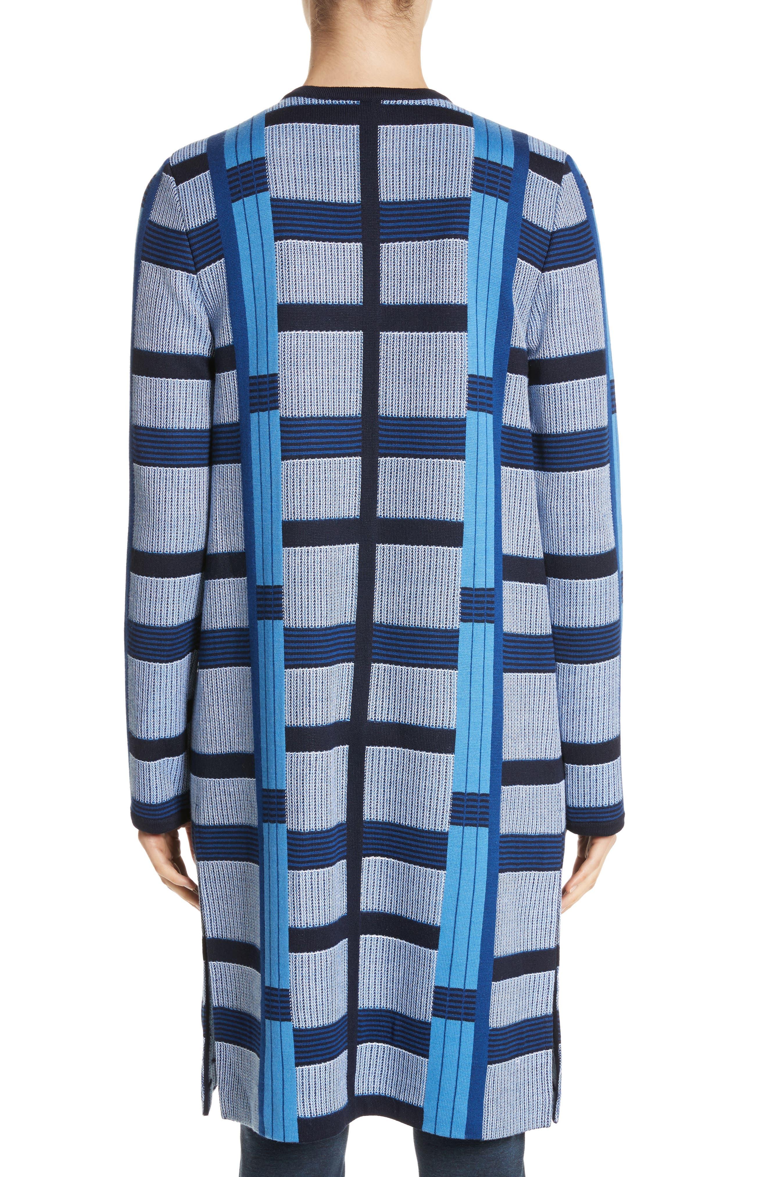 Colorblock Knit Jacket,                             Alternate thumbnail 2, color,                             Niagara Multi