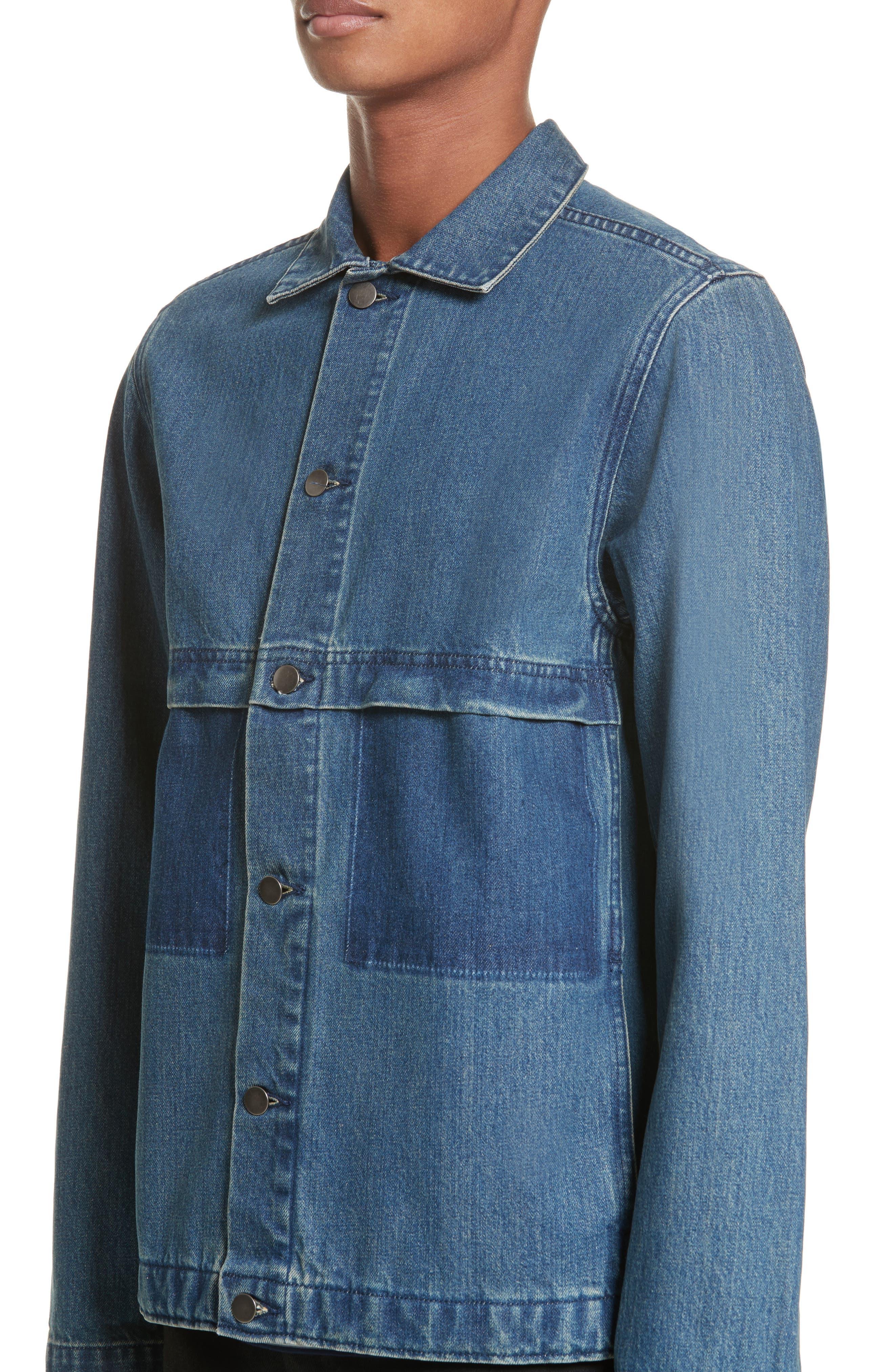 Smith Denim Jacket,                             Alternate thumbnail 4, color,                             Indigo Delave Ial