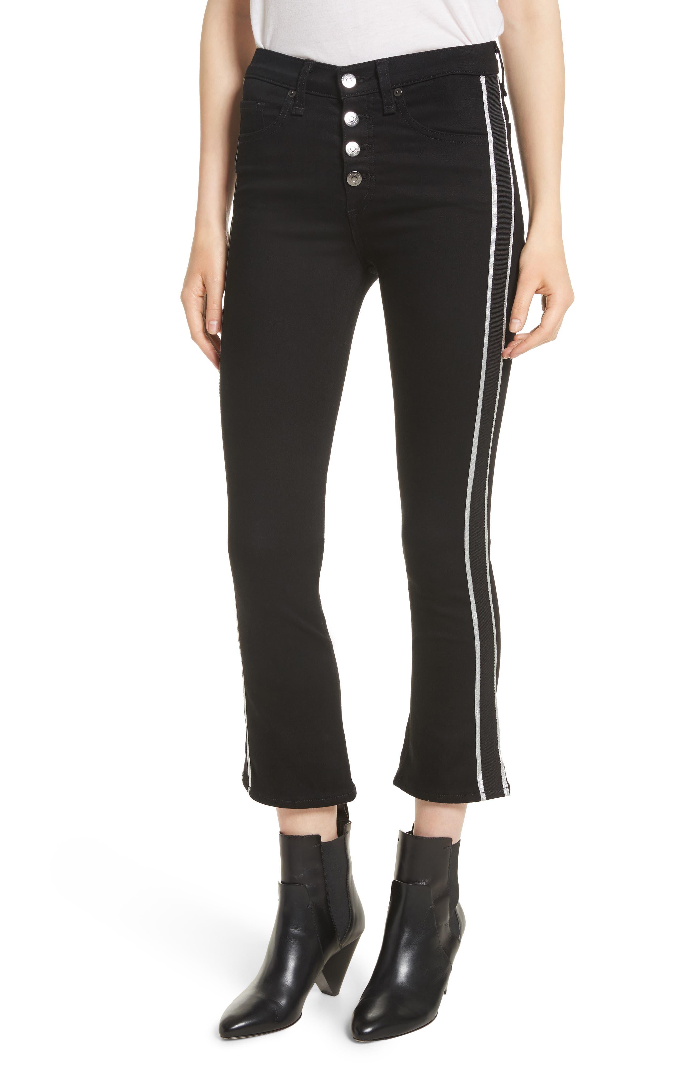 Main Image - Veronica Beard Carolyn Tux Stripe Baby Boot Jeans